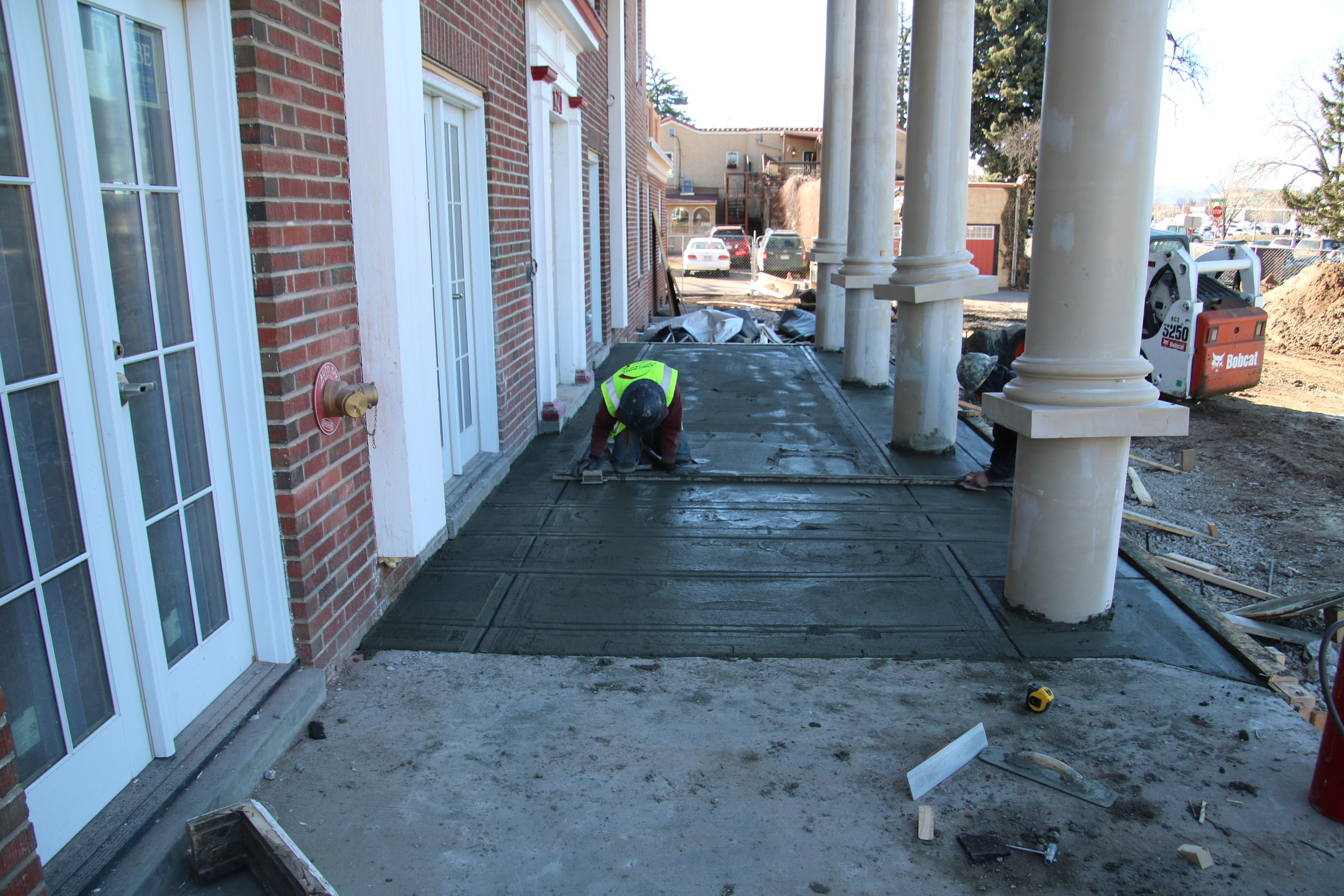 2016-02-23 finishing front porch concrete.JPG