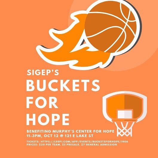 SigEp is hosting their inaugural Buckets for Hope Philanthropy benefiting the Murphy Center for Hope in Fort Collins! The will consist of 3v3 basket tournament, 3-Point Contest, food, and over $350 in prizes. The philanthropy will be on Oct 12th from 11-3PM at the SigEp House! Sign-up for a team by using the link in the bio!  What does our Philanthropy mean to us? Our Philanthropy is a way to give back to the Fort Collins community and to help those who are struggling in life. We chose the Murphy Center for Hope to help create positive change within the homeless community with more services and programs here in Fort Collins.