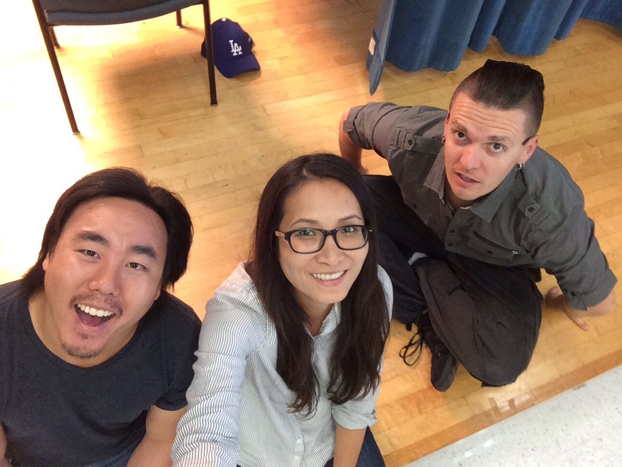 L - R: Adam, Huong, and Jon. Not pictured: selfie stick.