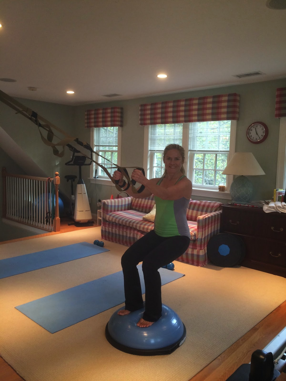 TRX on the Bosu=conditioning with CORE stability