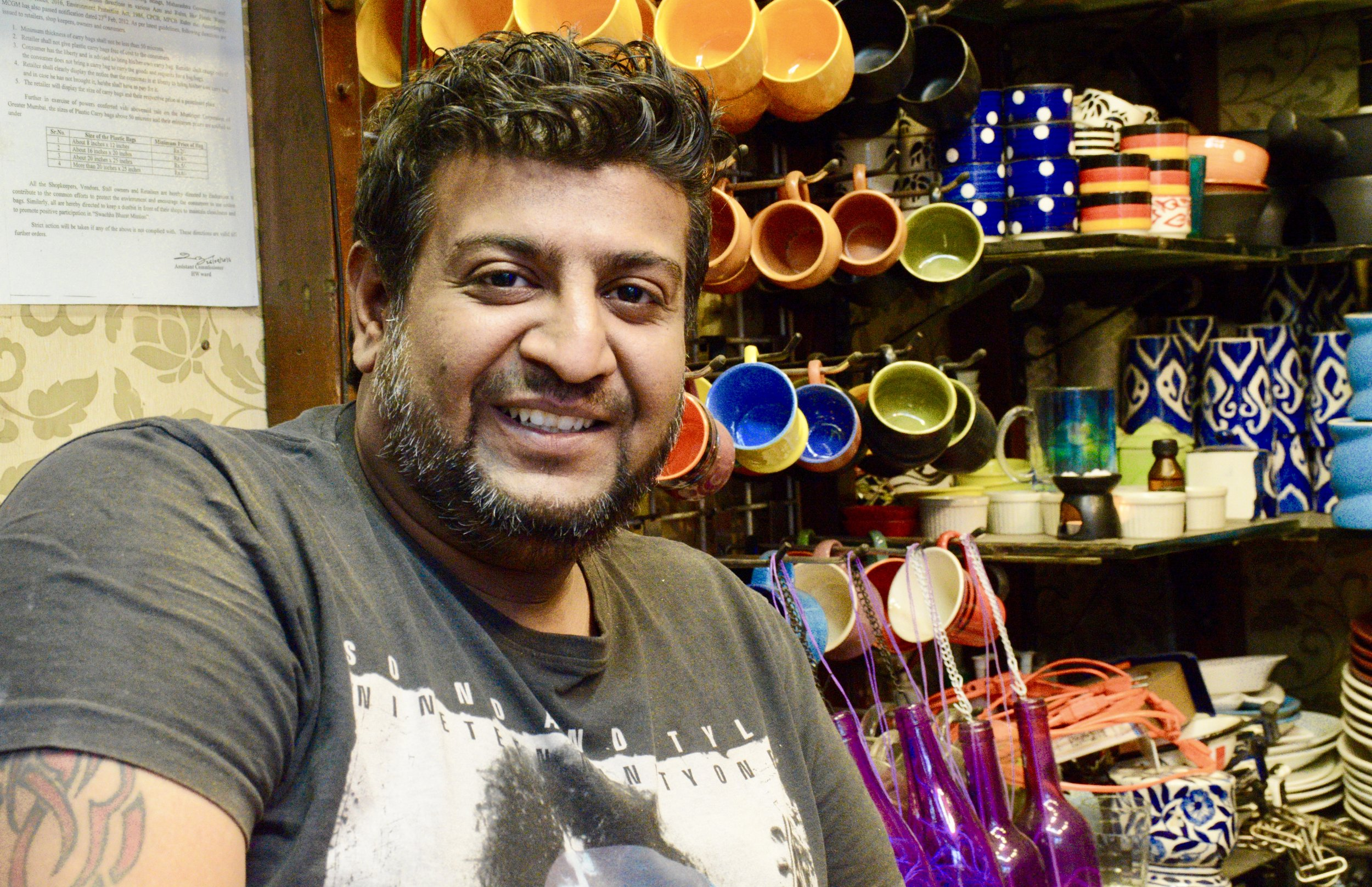 The group's most enlightening interview occurred with a assorted ceramics store owner who, despite having access to a POS machine prior to demonetization, still conducted a majority of his transactions in cash. Having lost 80% of his business since demonetization, he is no longer able to cover his business expenses.