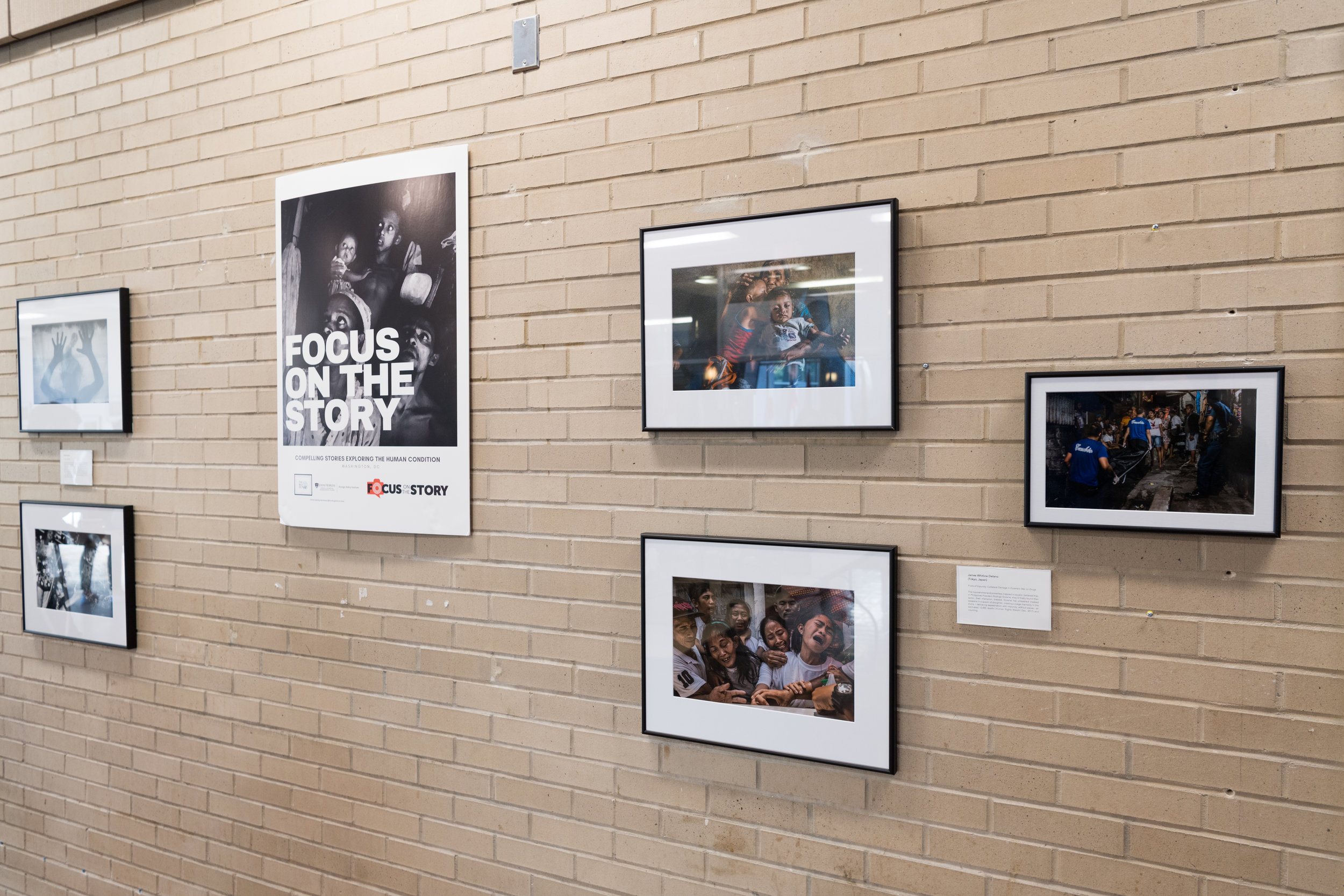 The event also featured photographs by James Whitlow Delano and the winners of the Focus on the Story Awards