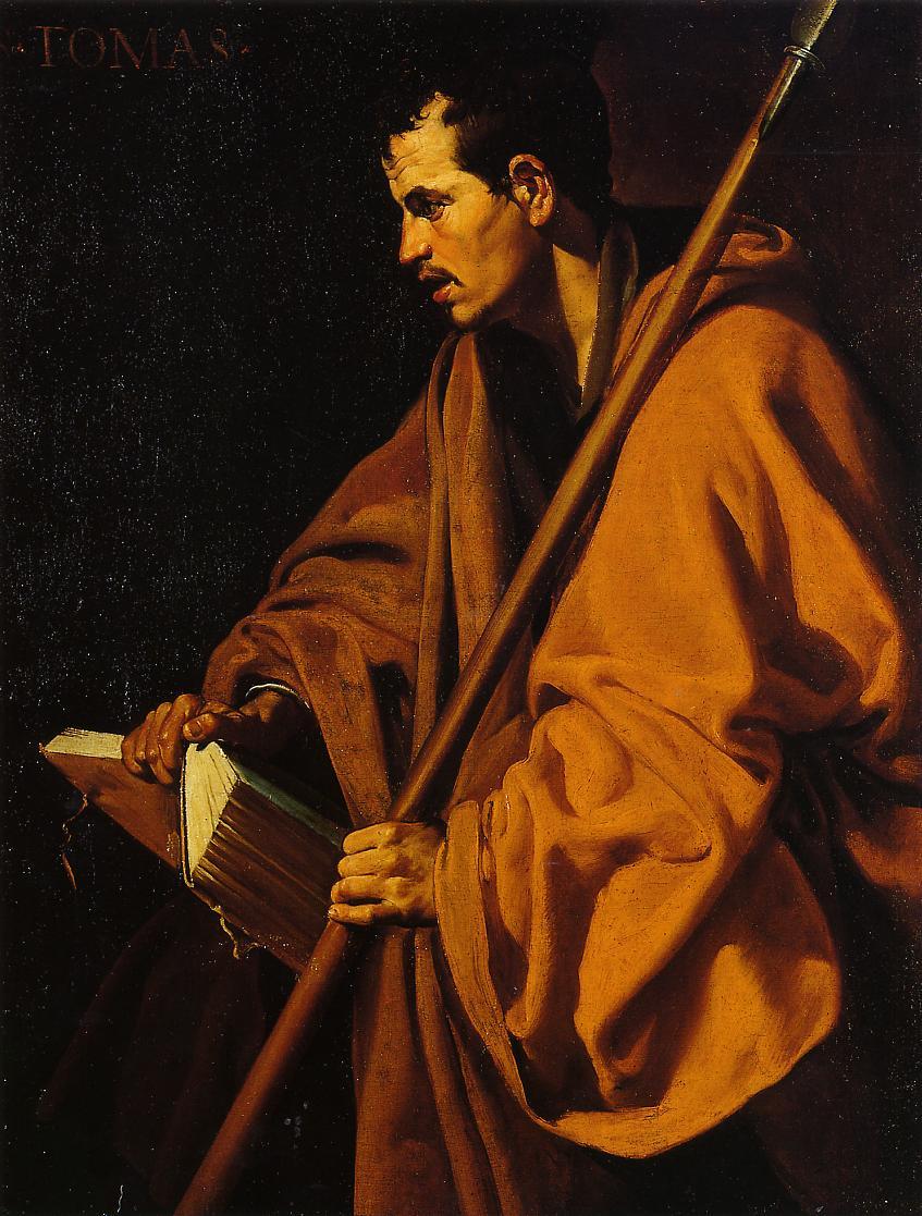 The apostle Saint Thomas, Diego Velázquez, around 1620.