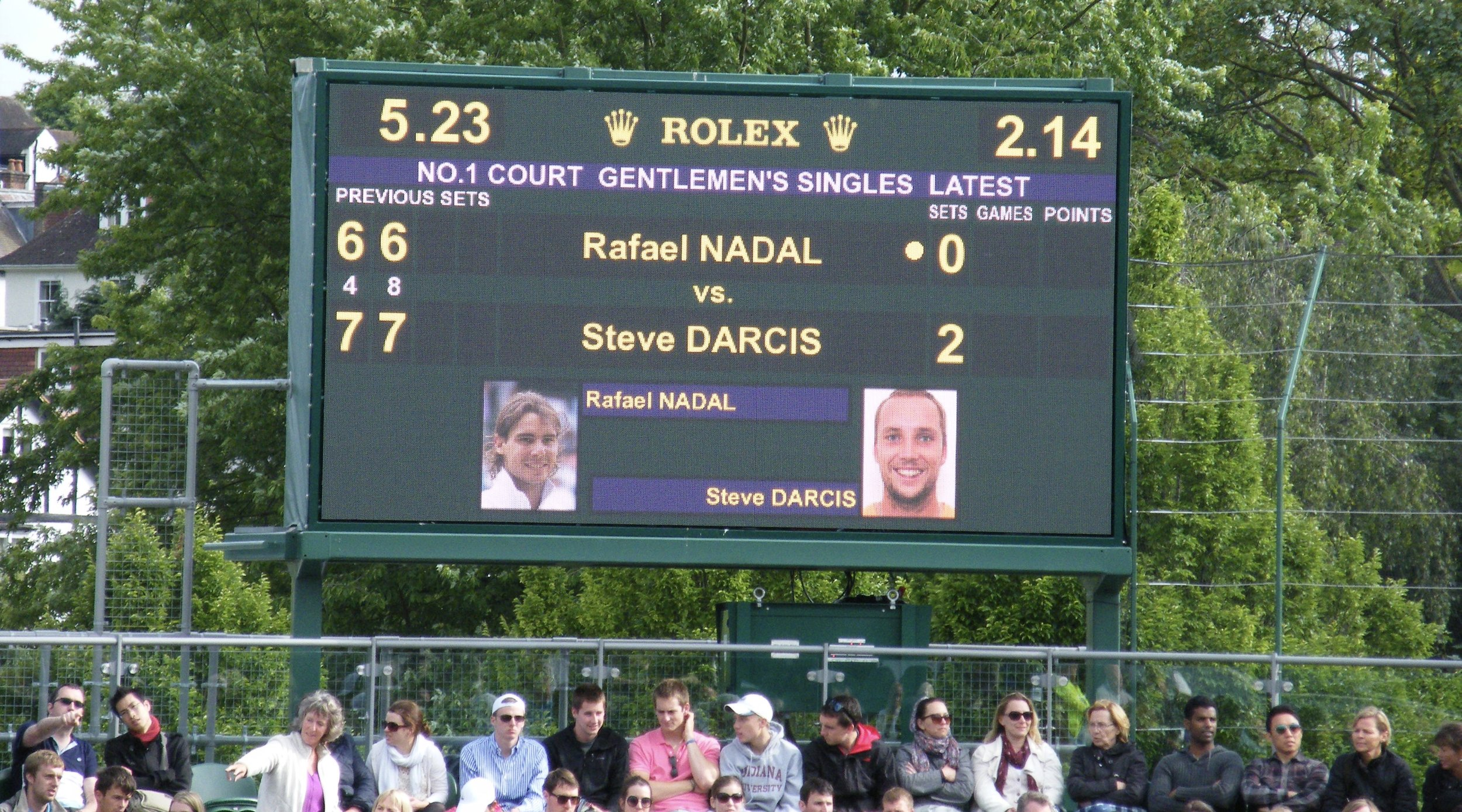 17:23 - The scoreboard from No 1 Court continued to make us wonder when Nadal would grind his way out of trouble.