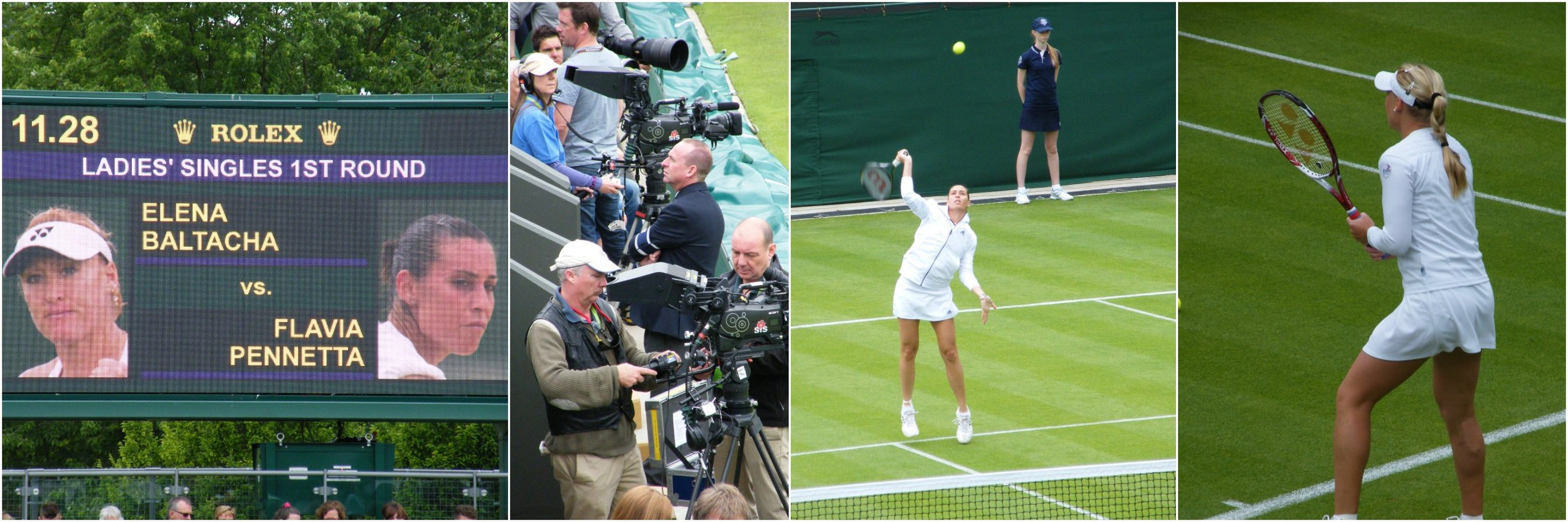 The marvellous game of tennis as we appreciate it so little of the time... away from a television broadcast screen.