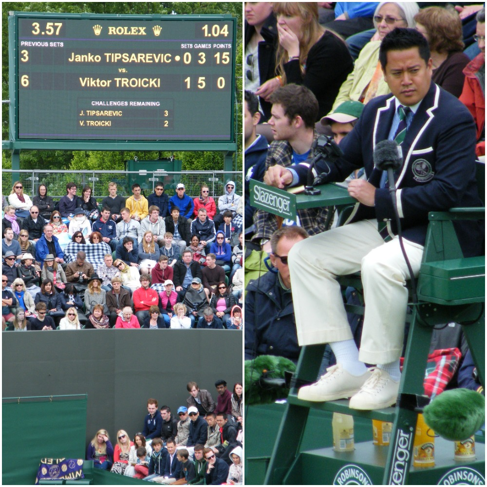 15:57 - We have enjoyed much warmer weather at Wimbledon but this was a slightly chilly full day's play.