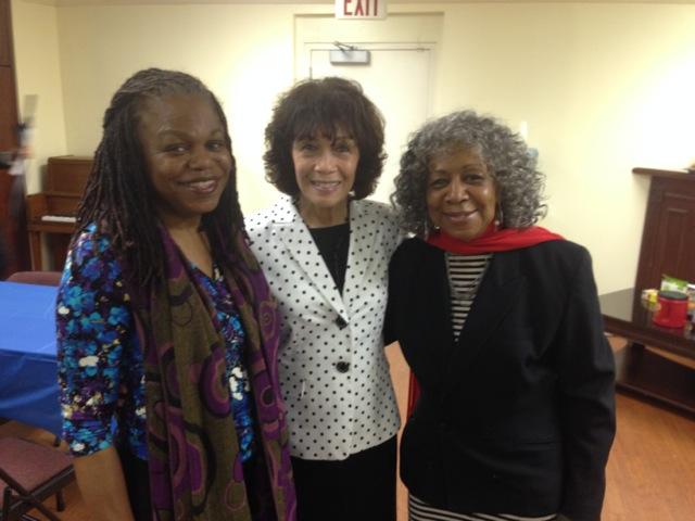 M. Nzadi Keita, Nettie Washington Douglass (great-great-granddaughter of Frederick and Anna Murray Douglass), and Ms. Kujichagulia in Atlanta.