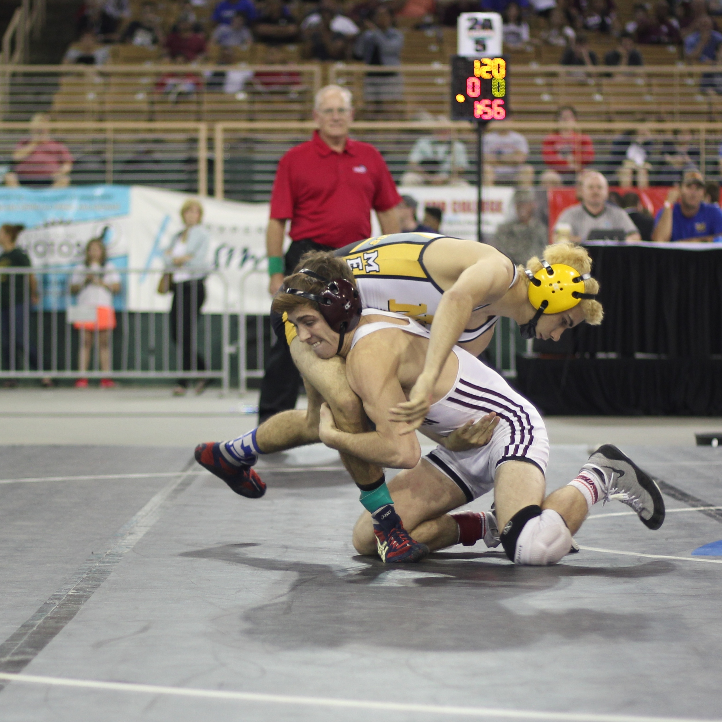 Norstrem pinned Hudson to win the 2015 2A 120 lb.title