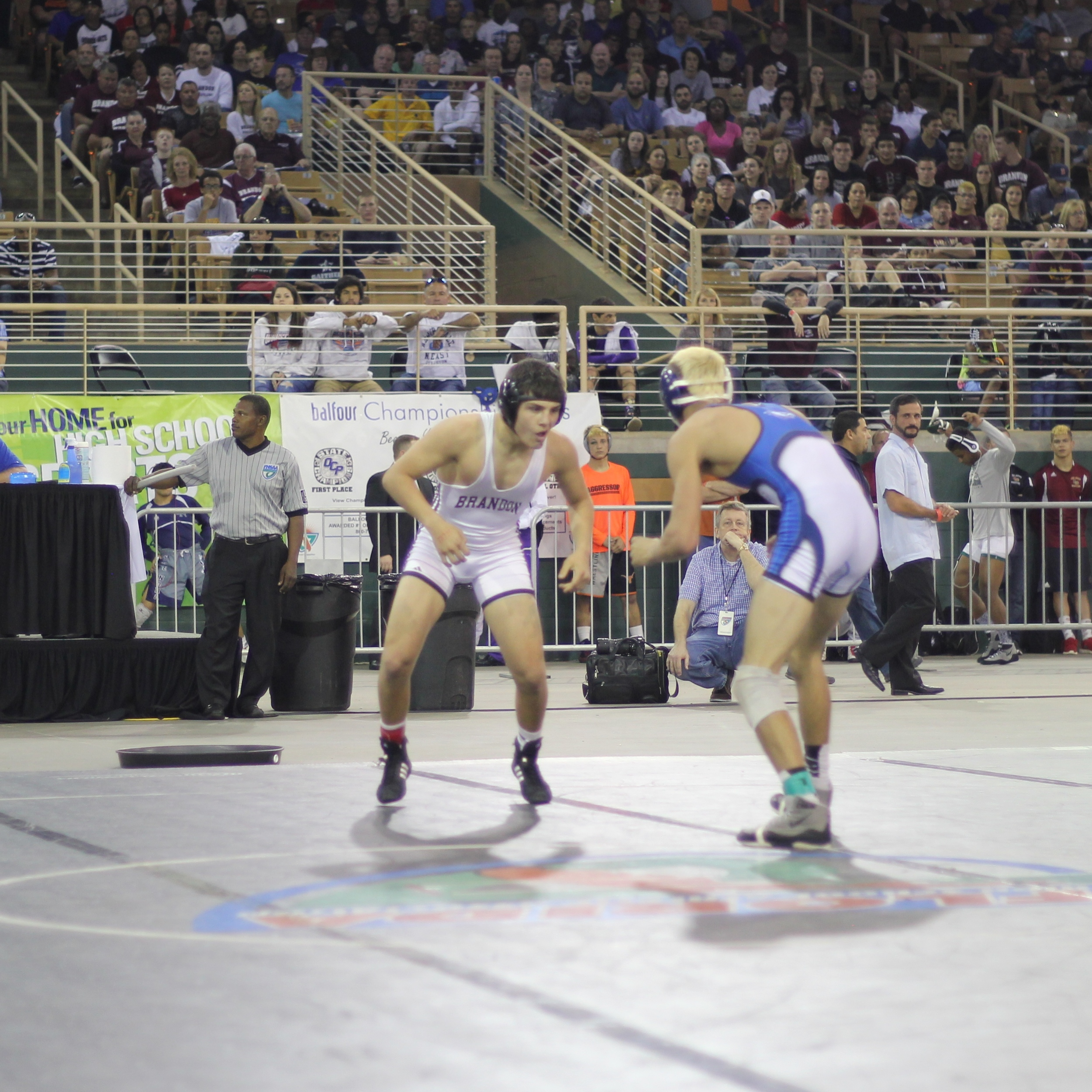 McDonald beat Bruno 5-2 to win the 2015 2A 126 lb. title