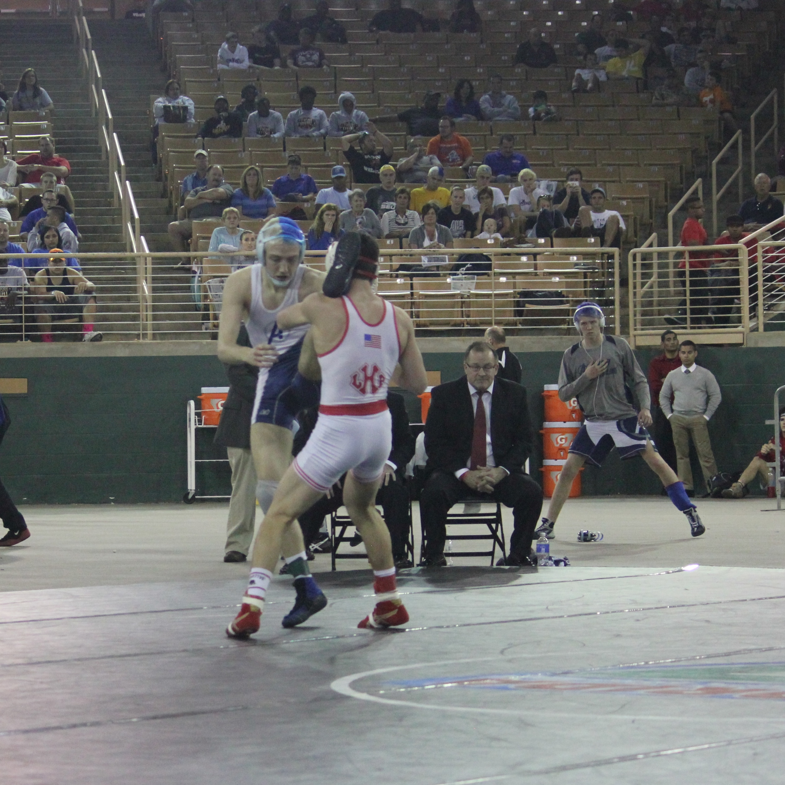 McClanahan beat Brindley 4-3 to win the 2015 1A 126 lb.title
