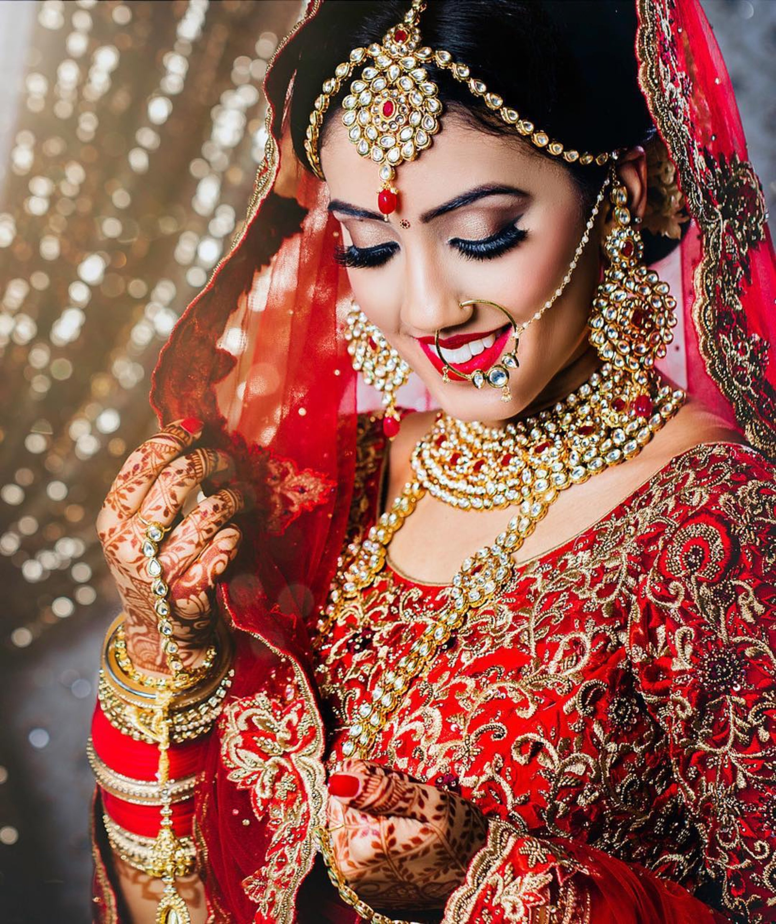 Our Beautiful Bride Jasnique looking absolutely stunning #queened. Makeup & Hair: Kelly K. Photography: @Studio12movies, Flowers: @sukisflowers, & Jewellery: @chohans_jewellery