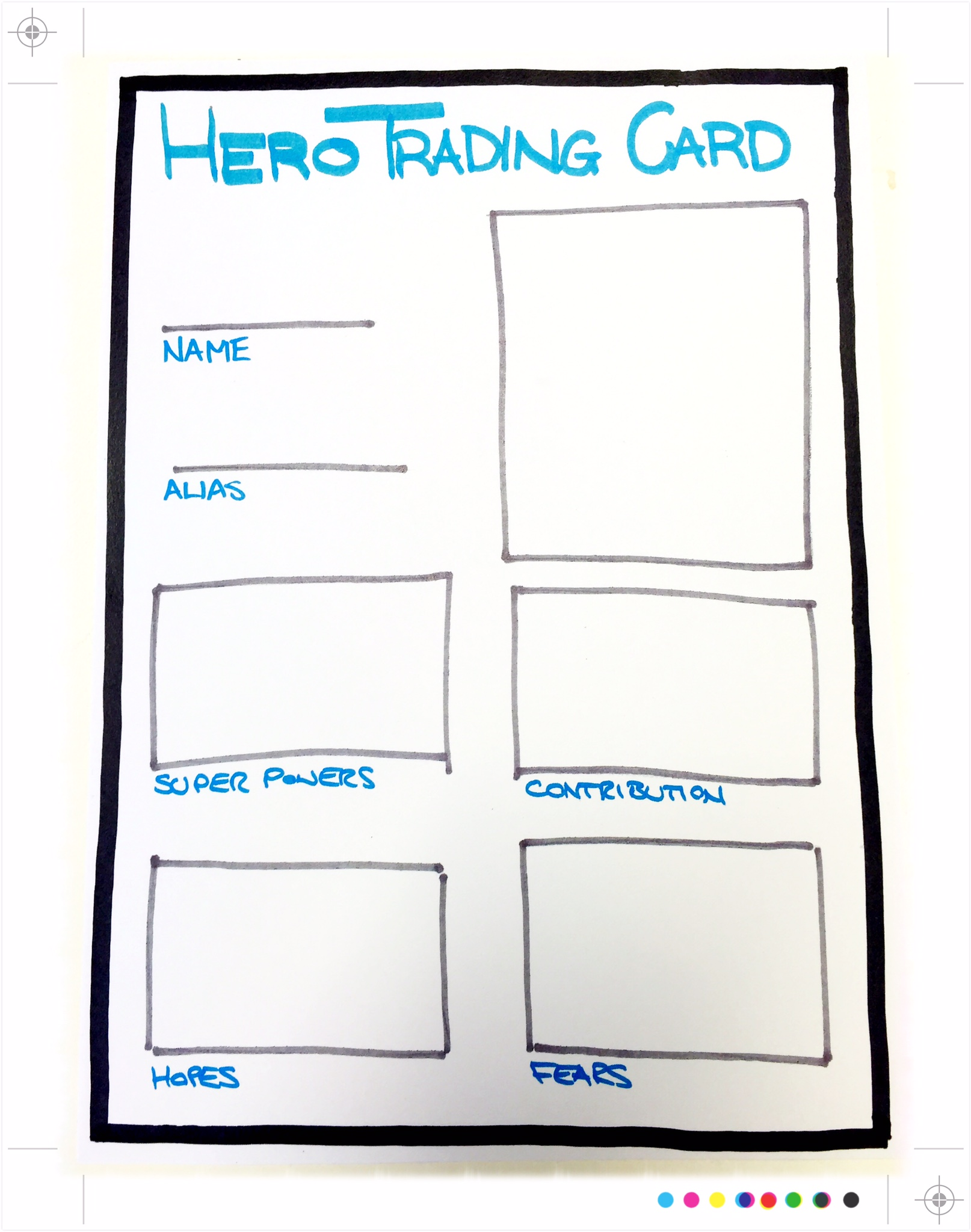 Template Hero Trading Card