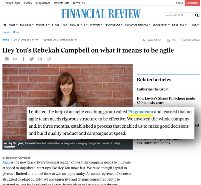 Hey You Pragmateam Financial Review