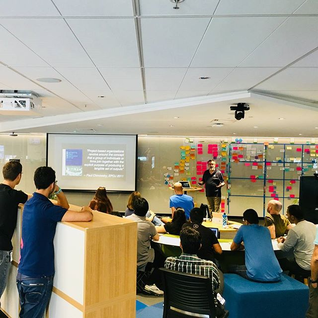 """Happy to invite and having Mike Amundsen sharing his talk """"Optimizing Teams in a Distributed World"""" at our client TabCorp. #learningculture"""