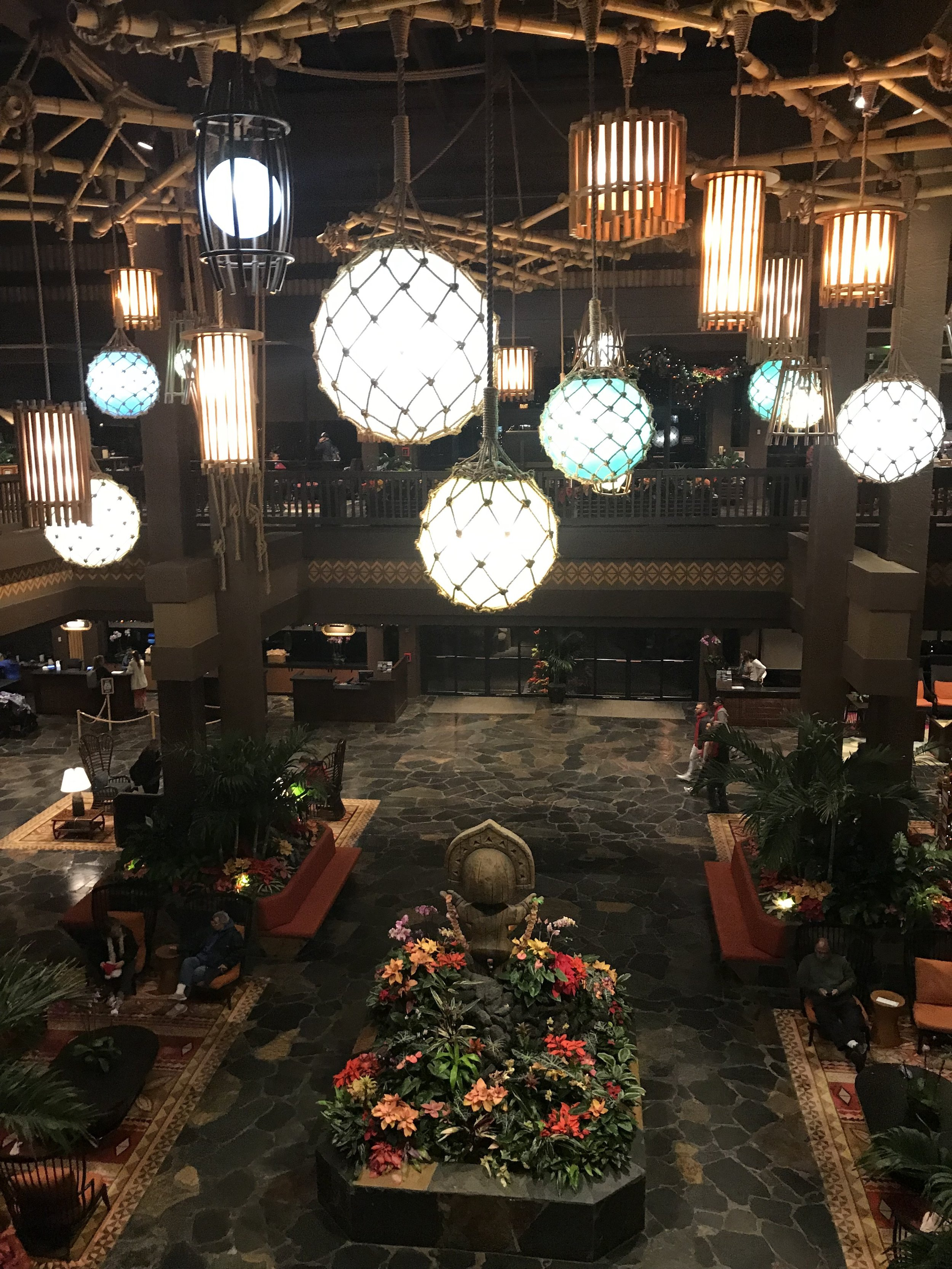 A picture of our hotel lobby - definitely a gorgeous place!