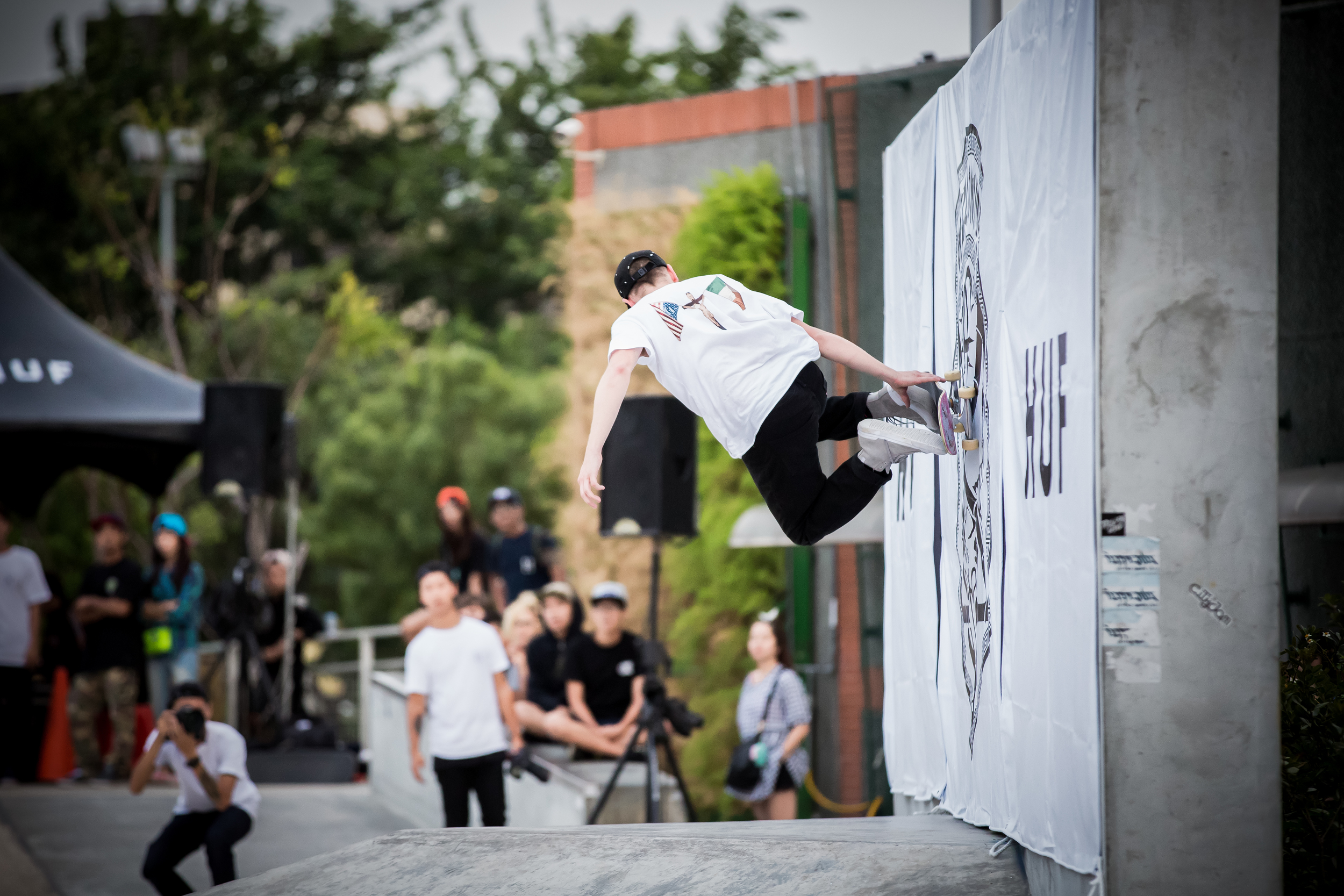 Kevin Terpening performing a wall slide