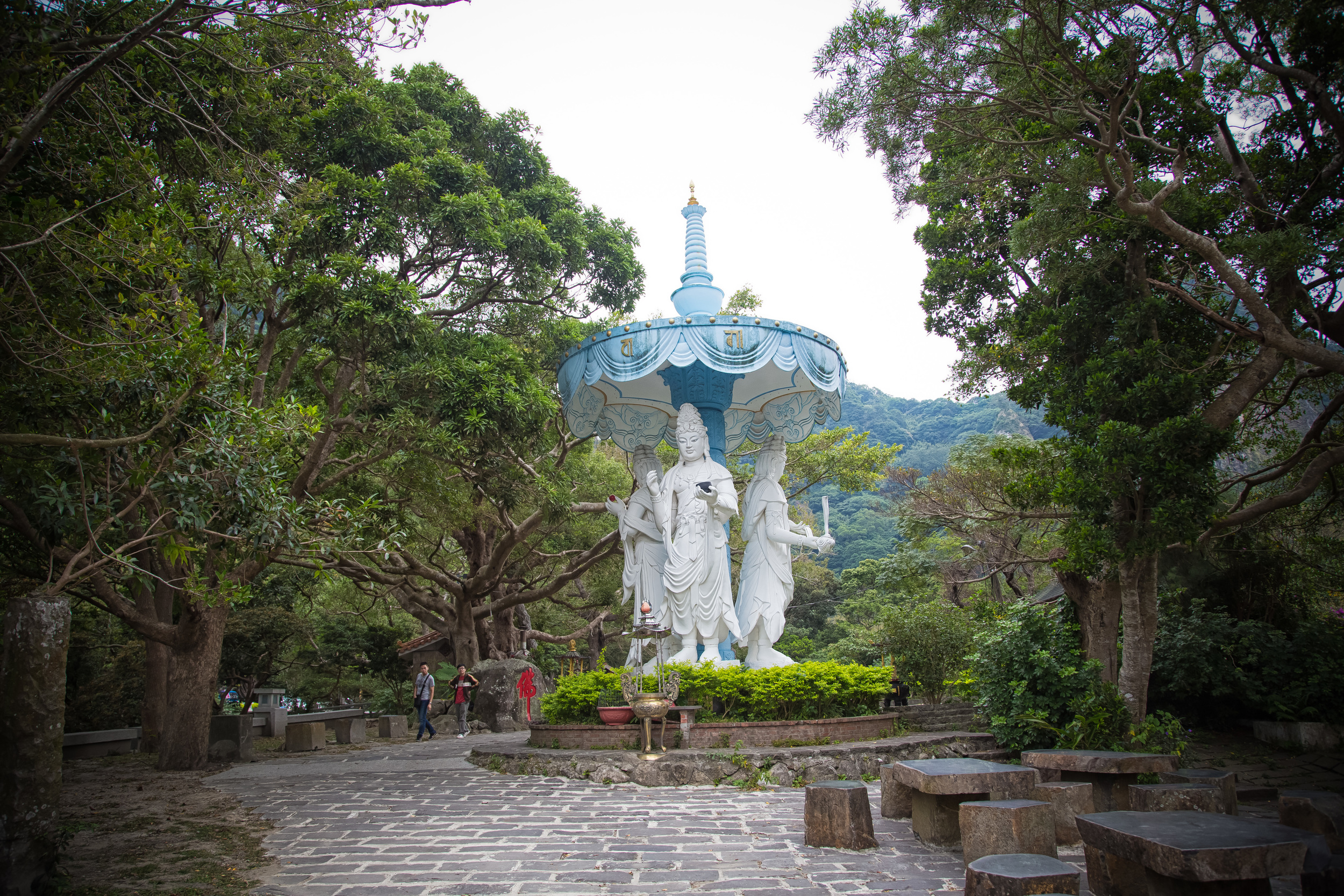 - A small park devoted to the Buddha Guanyin