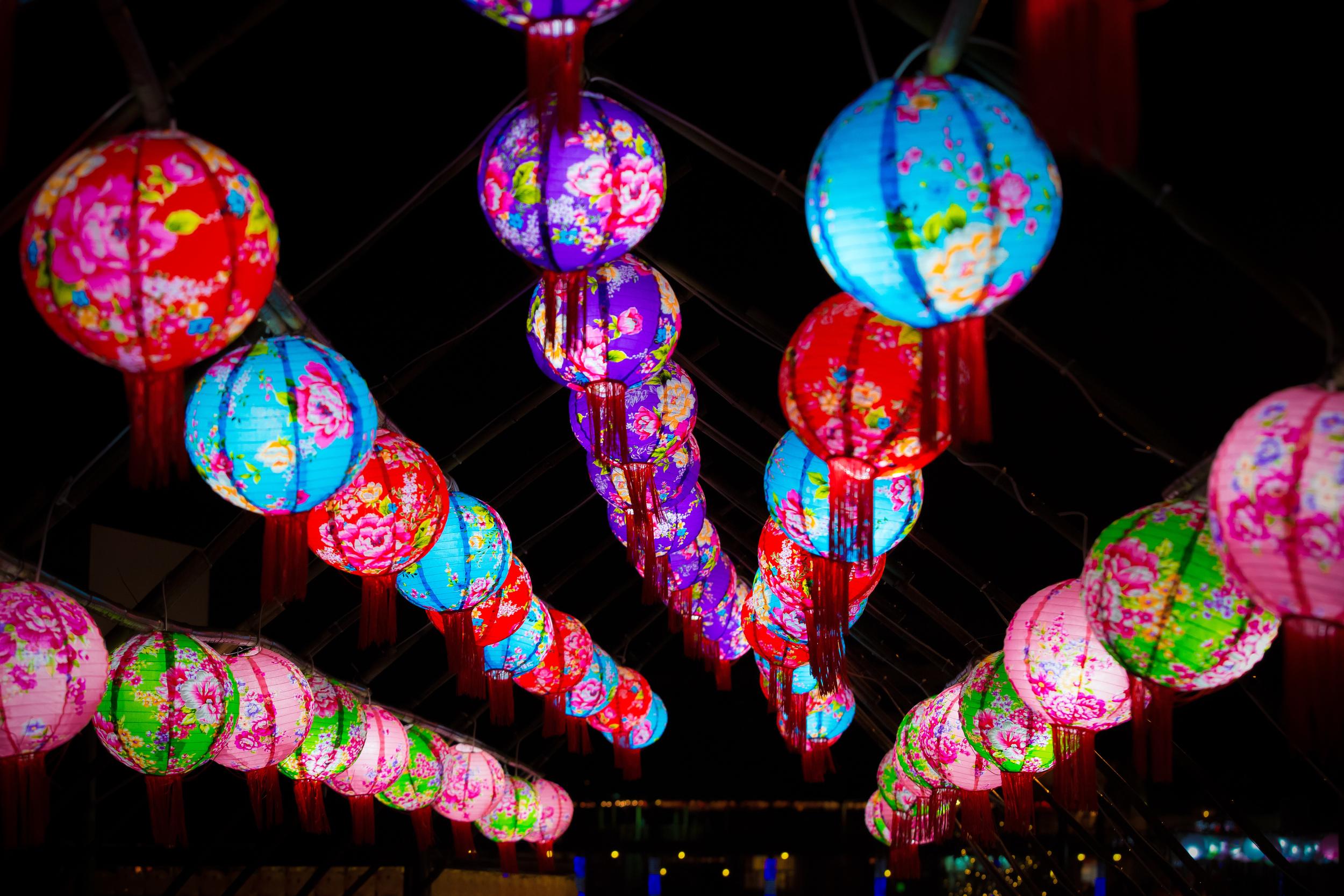 Colourful Hakka Lanterns