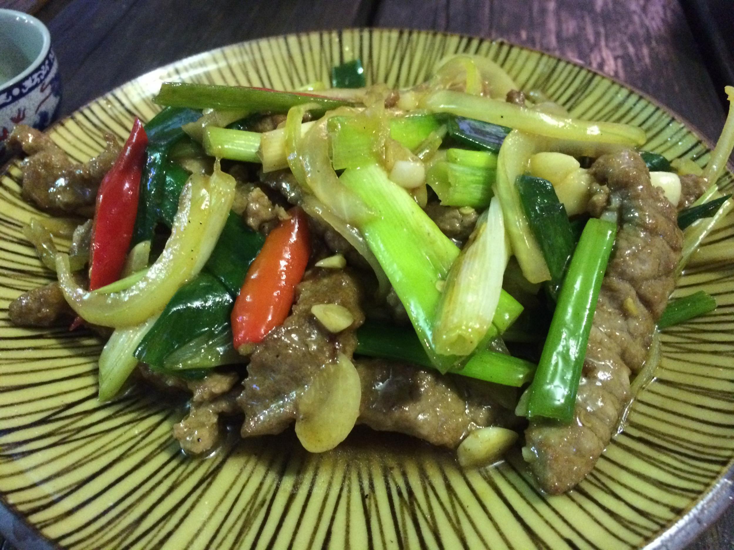 蔥爆牛肉 - Stir-Fried Beef with Shallots