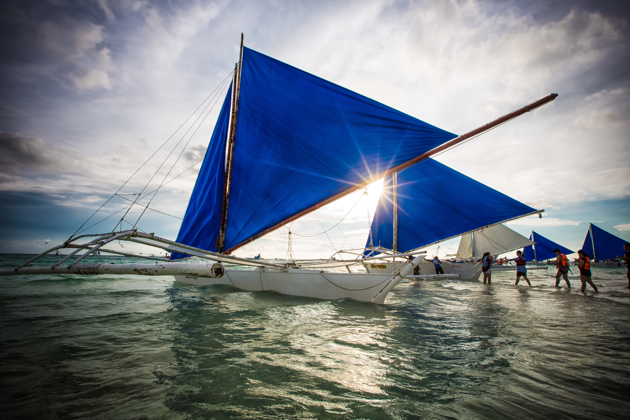 Boracay's iconic Paraw Sailboats.