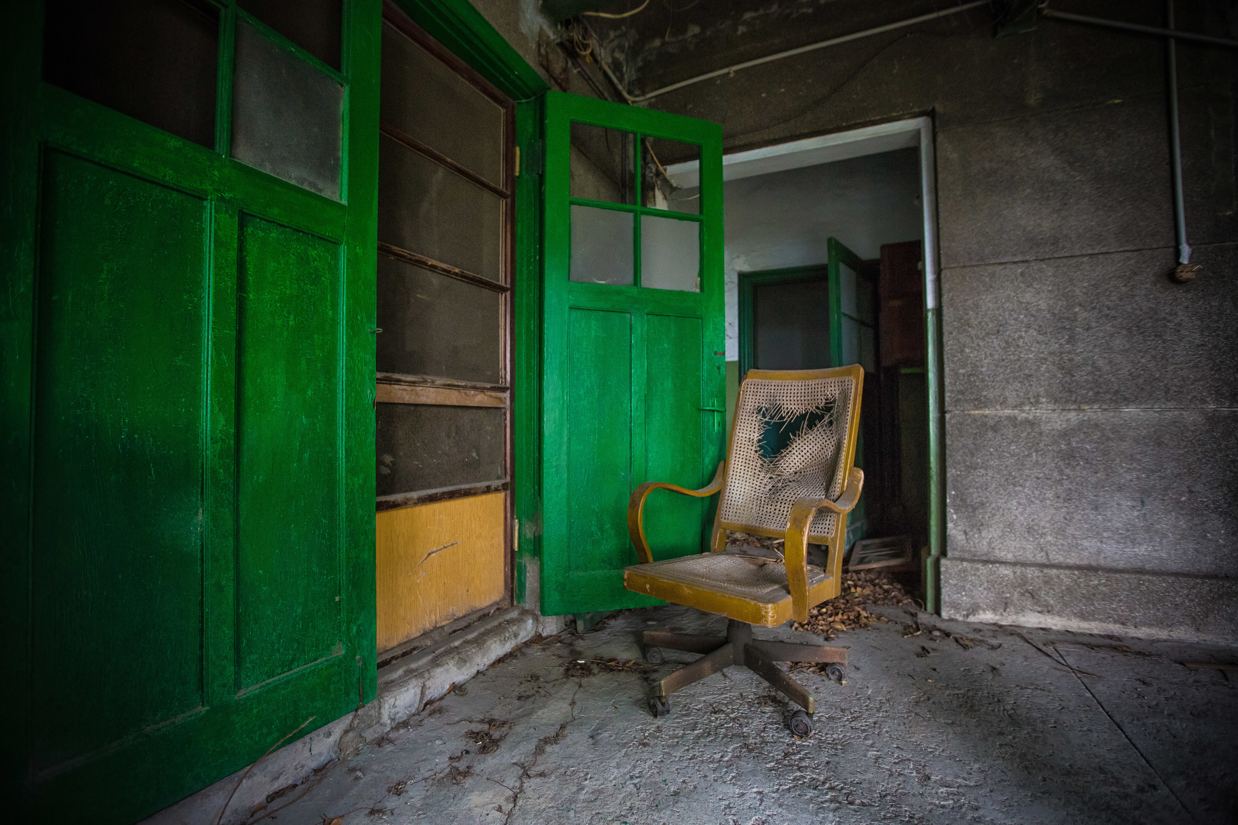 Empty chair in the village