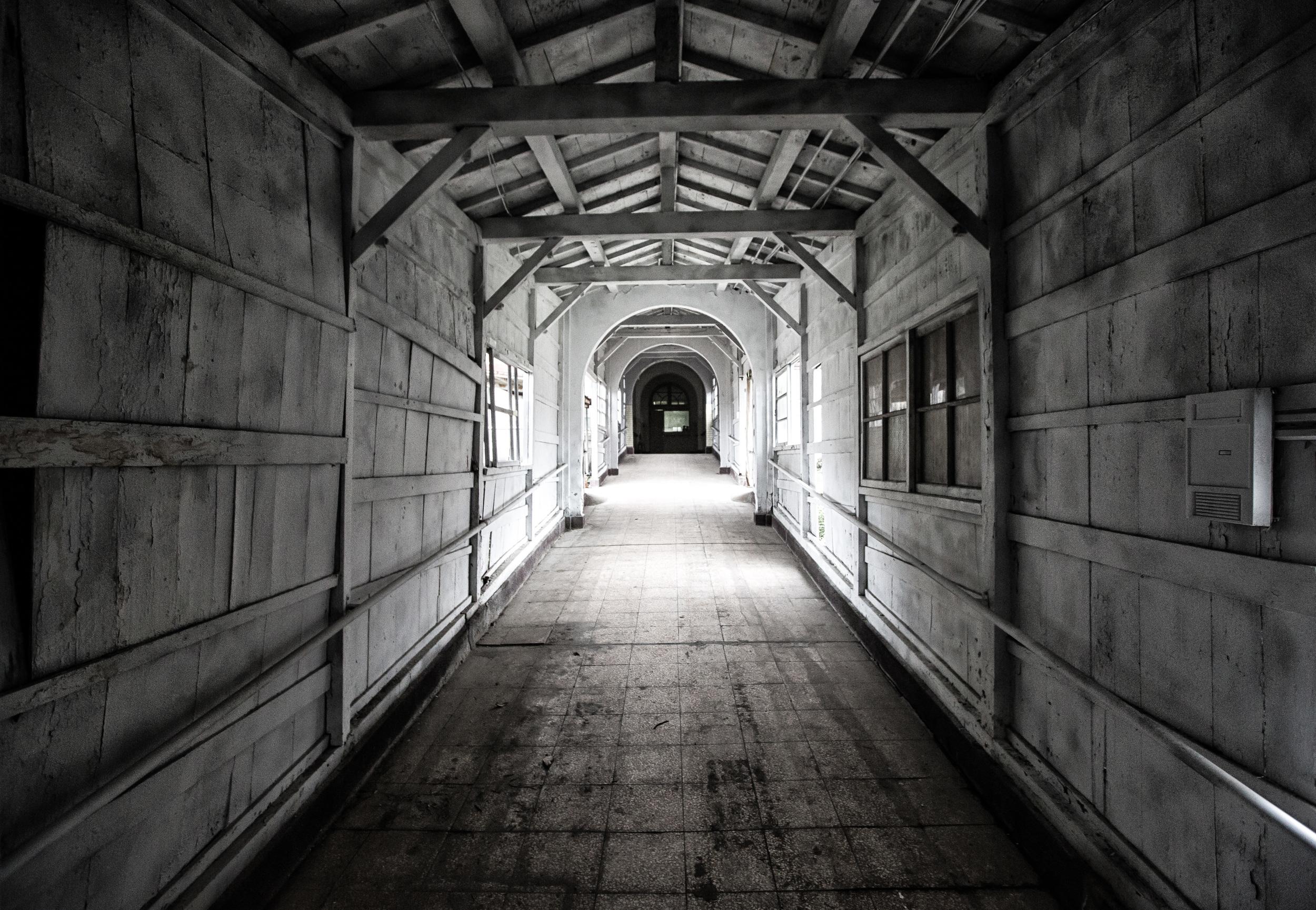 Hallway between different departments.