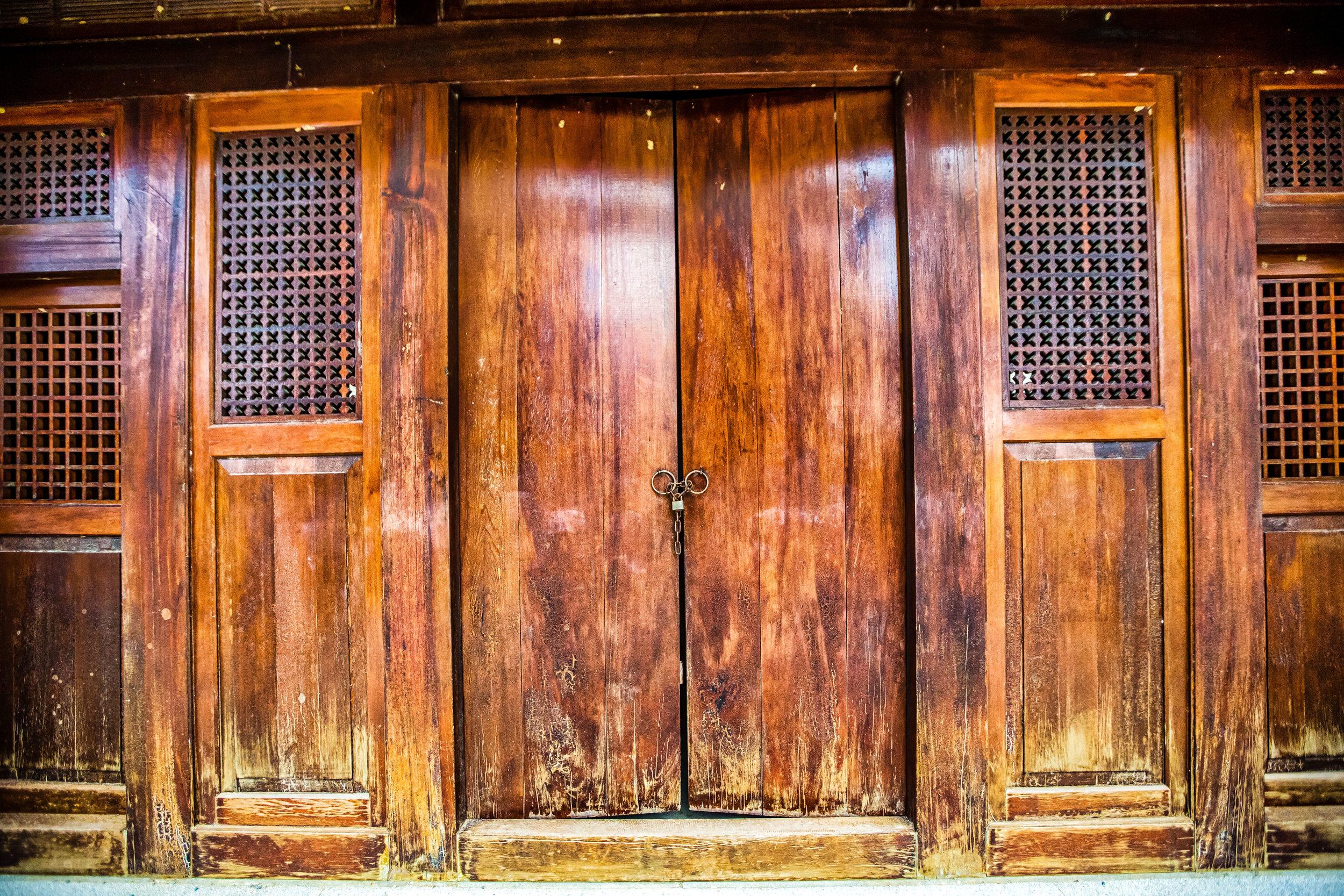 Beautiful wooden doors.