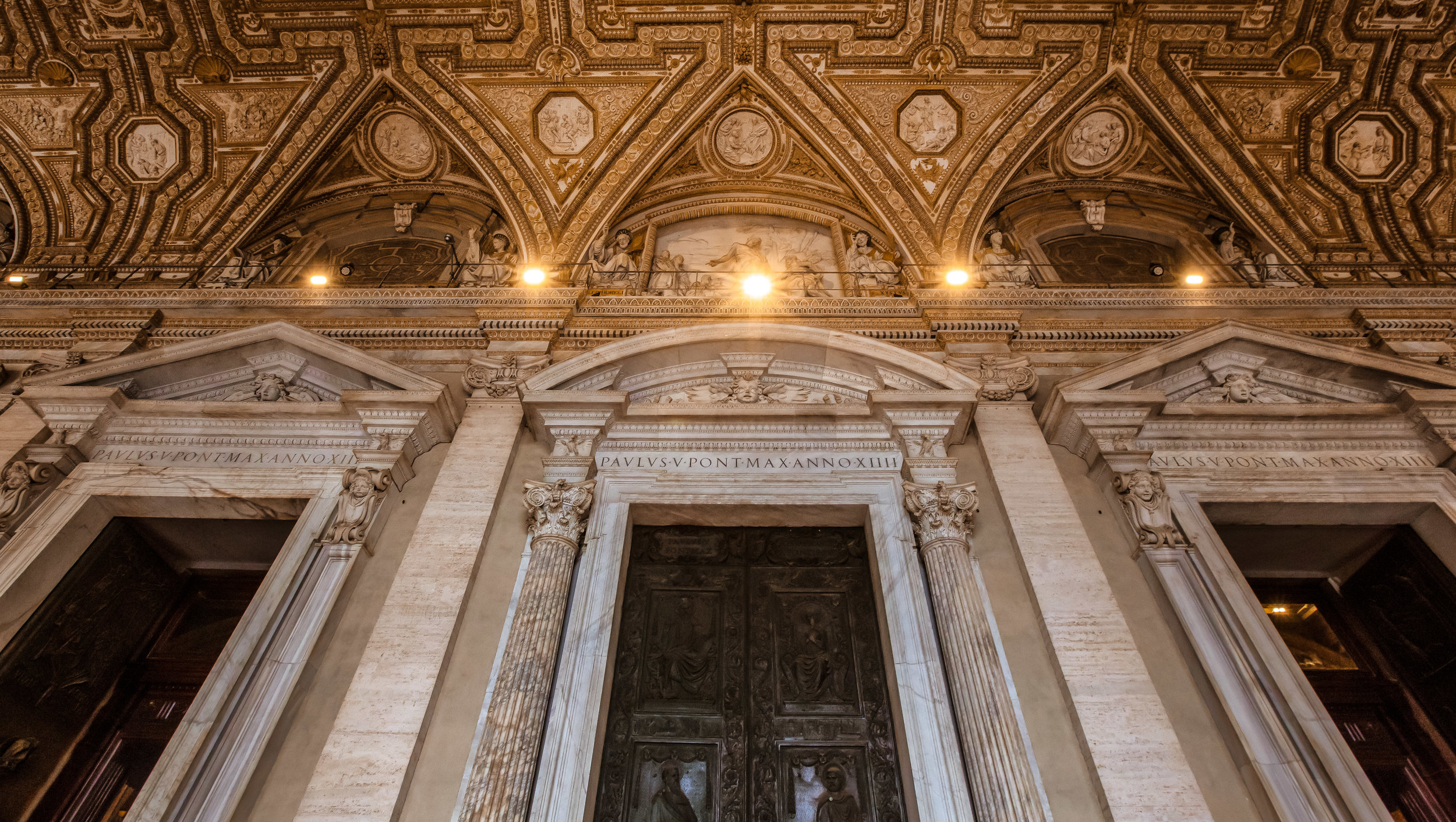 The inside doors to St. Peter's