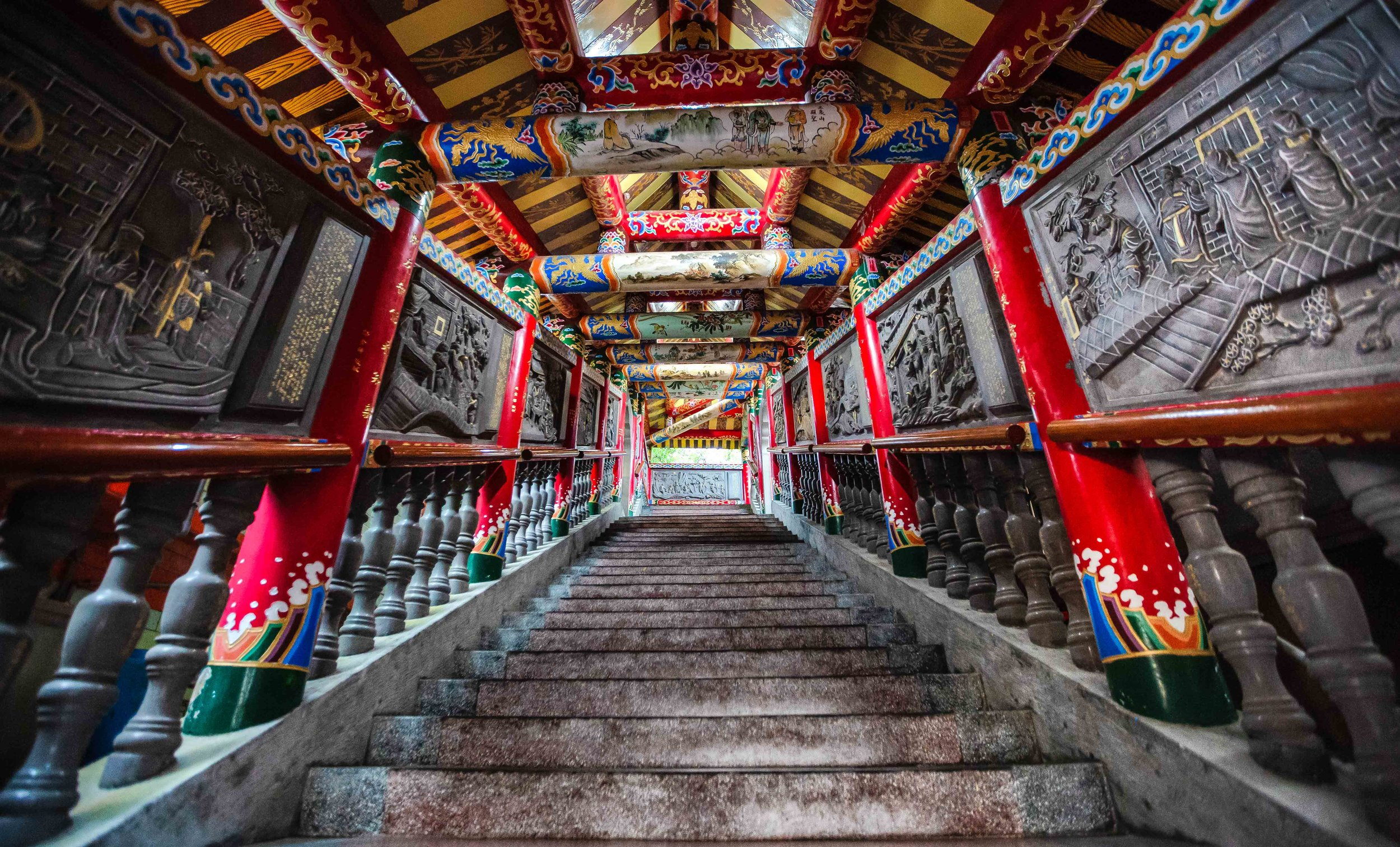 An Instagram hot spot - The beautiful stairs that lead up to the original shrine.