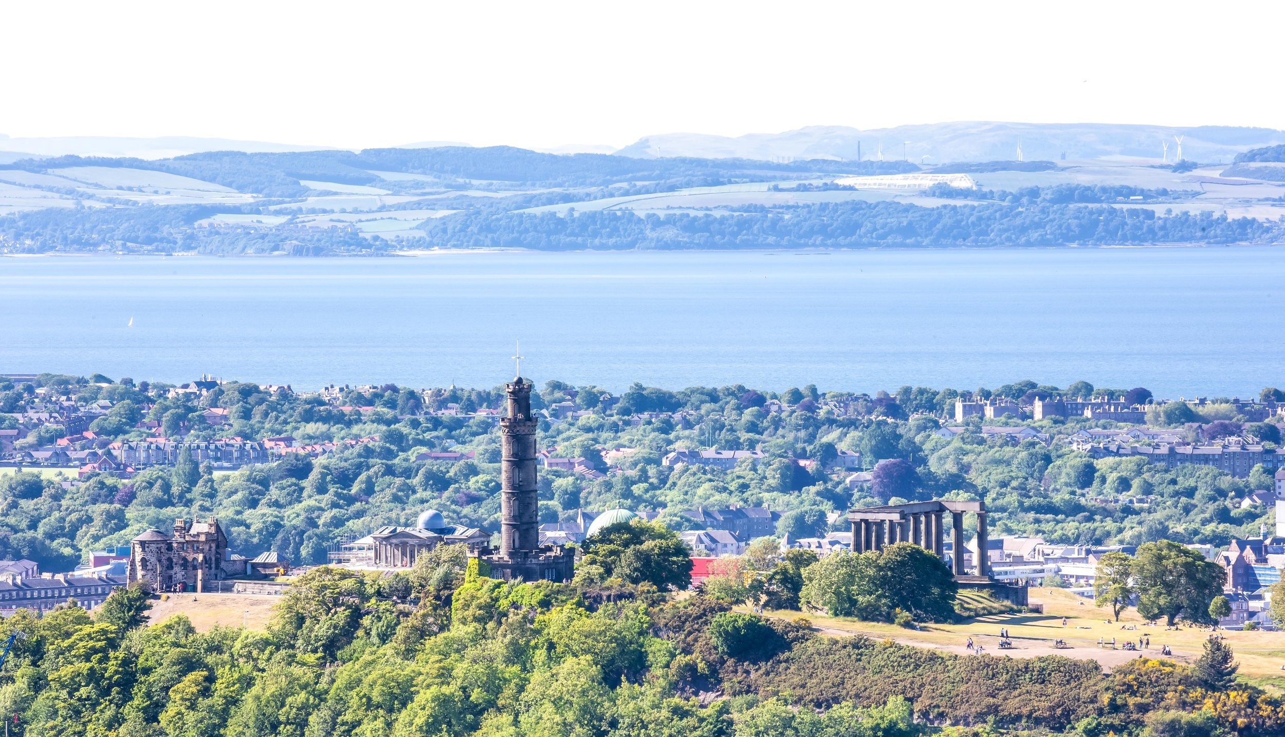 View of Calton Hill from Arthurs Seat