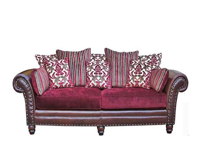 The Sharon Sofa  with a scatter back and studs