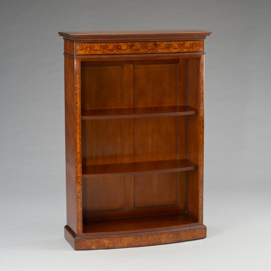 33477-130/J   Bow Front Bookcase Small