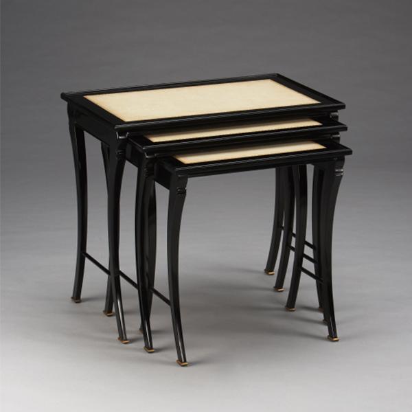 33403/J   Ebony Nesting TableSabre, set of 3