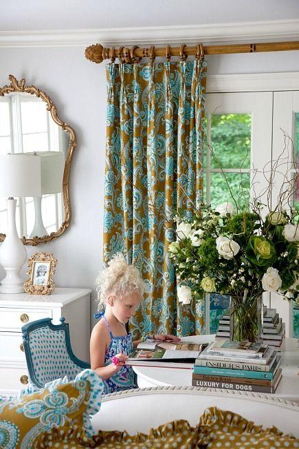 French pleat curtain on decorativepole