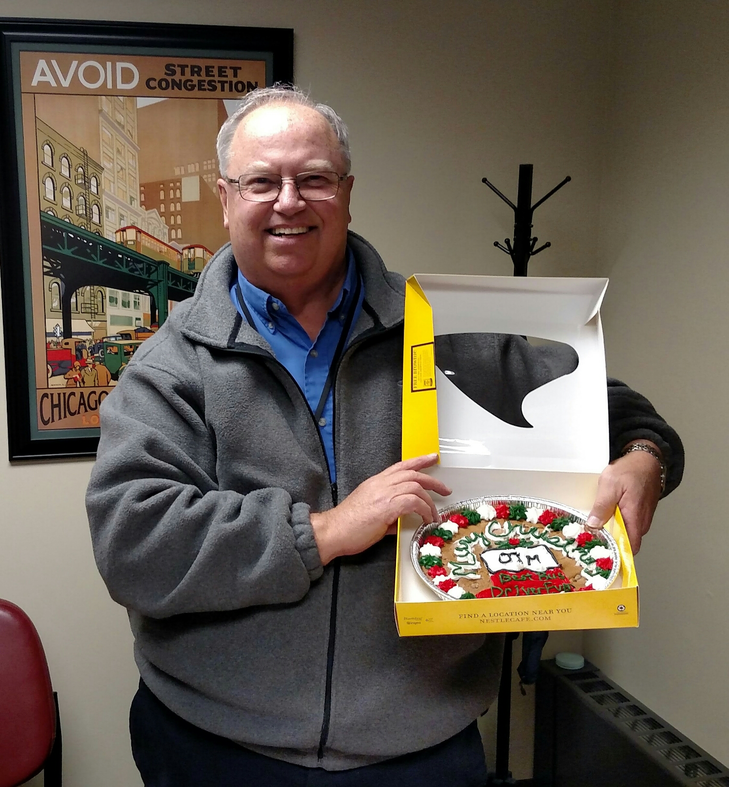 CWTA driver Jim, our Traverse City route driver, was given a tastey Christmas gift from one of his passengers for the great work that he does!