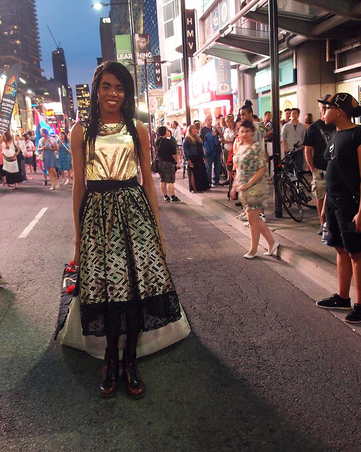 The Mourning Dress worn by Luna Saint Laurent  2015