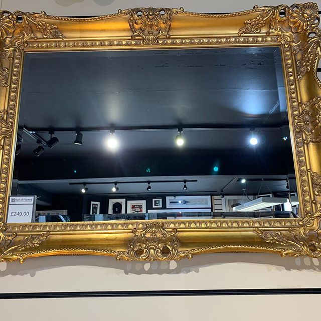 ⭐️Special offer for the Arts Trail weekend ⭐️ Elaborate wooden carved and pierced gold swept bevelled mirror Was £249.00 Arts Trail sale price £179.00 #belperartstrail #belperartstrail2019 #lovebelper #belperderbyshire #interiordecorating #decor #decorationideas #decoration