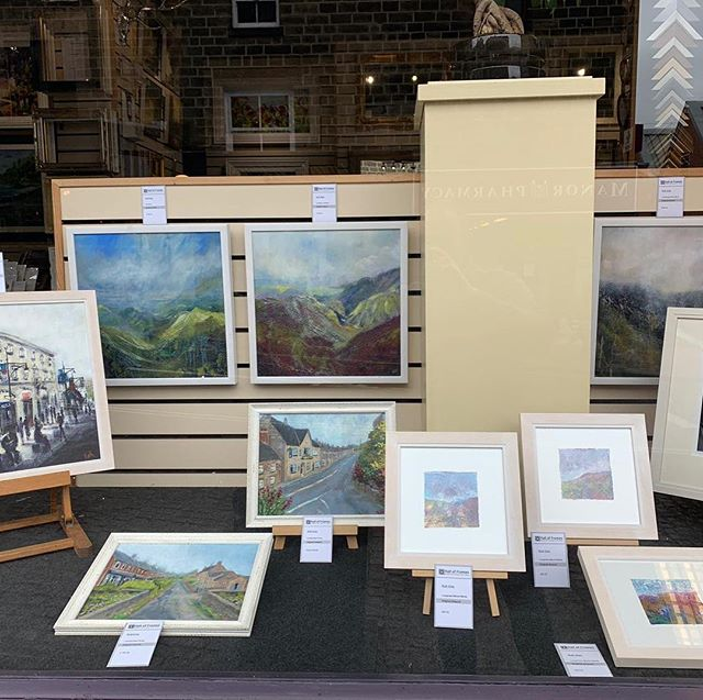 Window displaying artwork by @ruthgrayimages ready for the Arts Trail weekend #belperartstrail #belperartstrail2019 #lovebelper #lovebelperofficial #belper #belperderbyshire #fineart #localartist #art #derbyshire