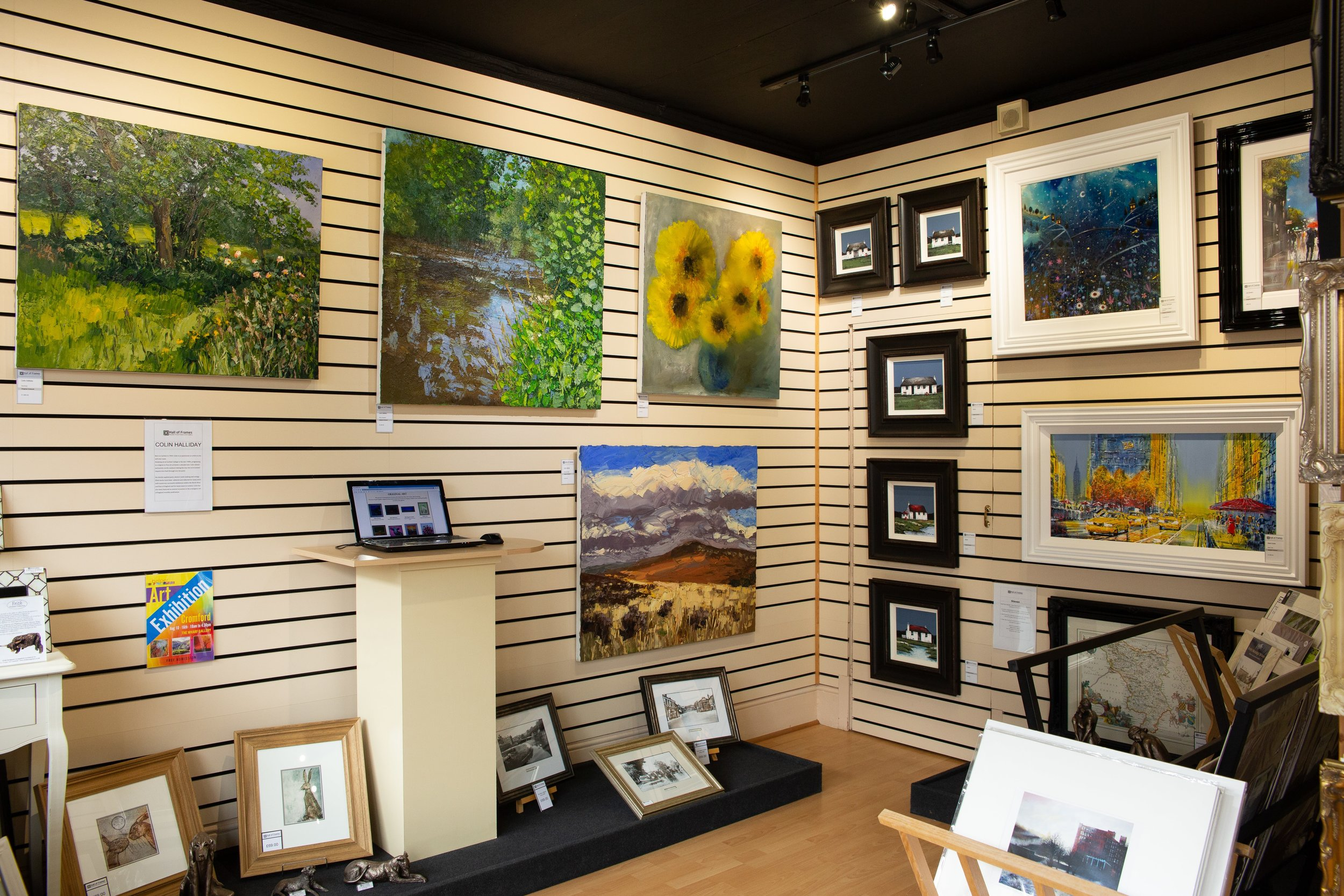 ART GALLERY - We have over 30 artists on display in our fine art gallery which showcases a diverse range of original oil paintings, watercolours, acrylics and sought after limited editions.