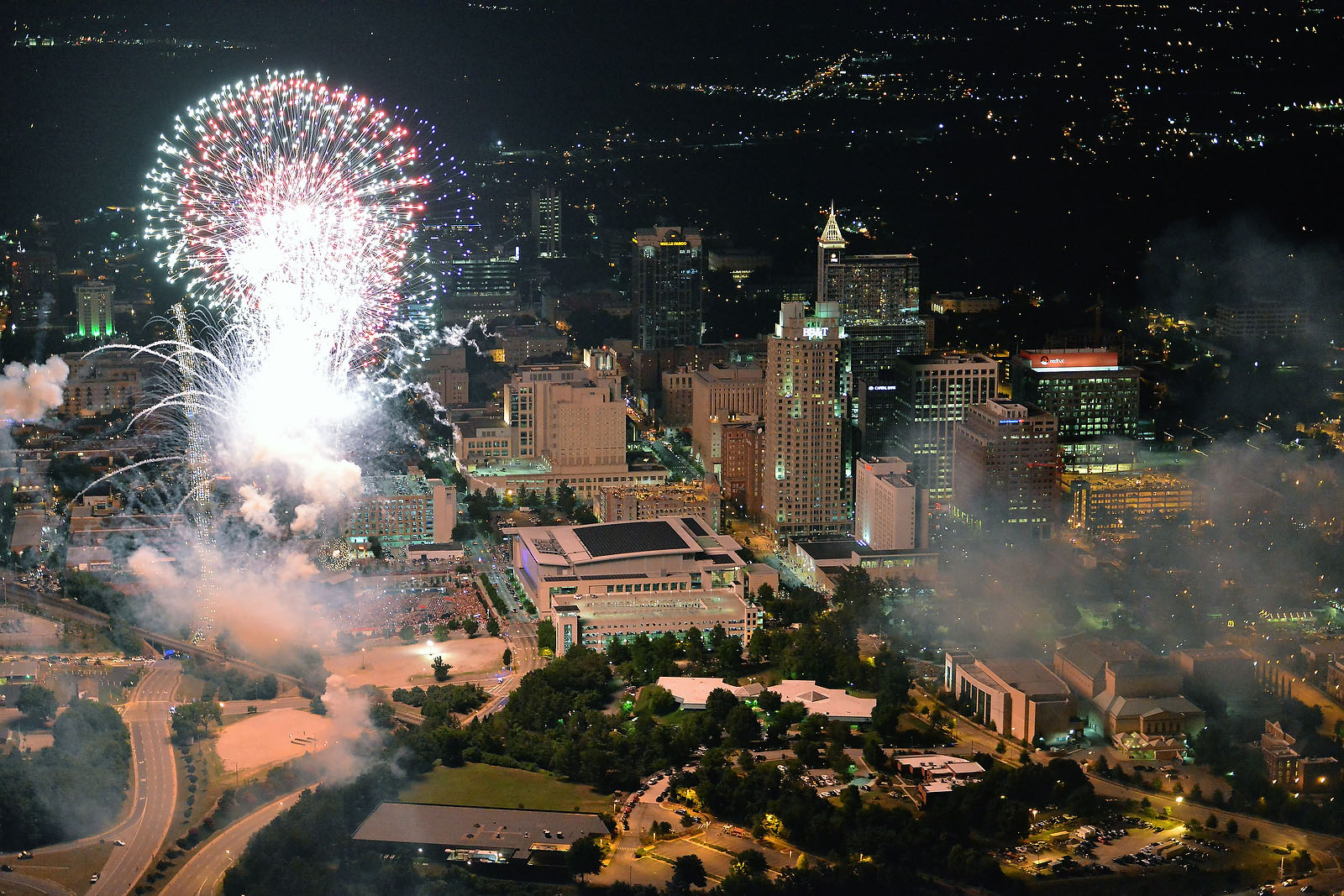 Raleigh Celebrates 4th Of July With Fireworks Display