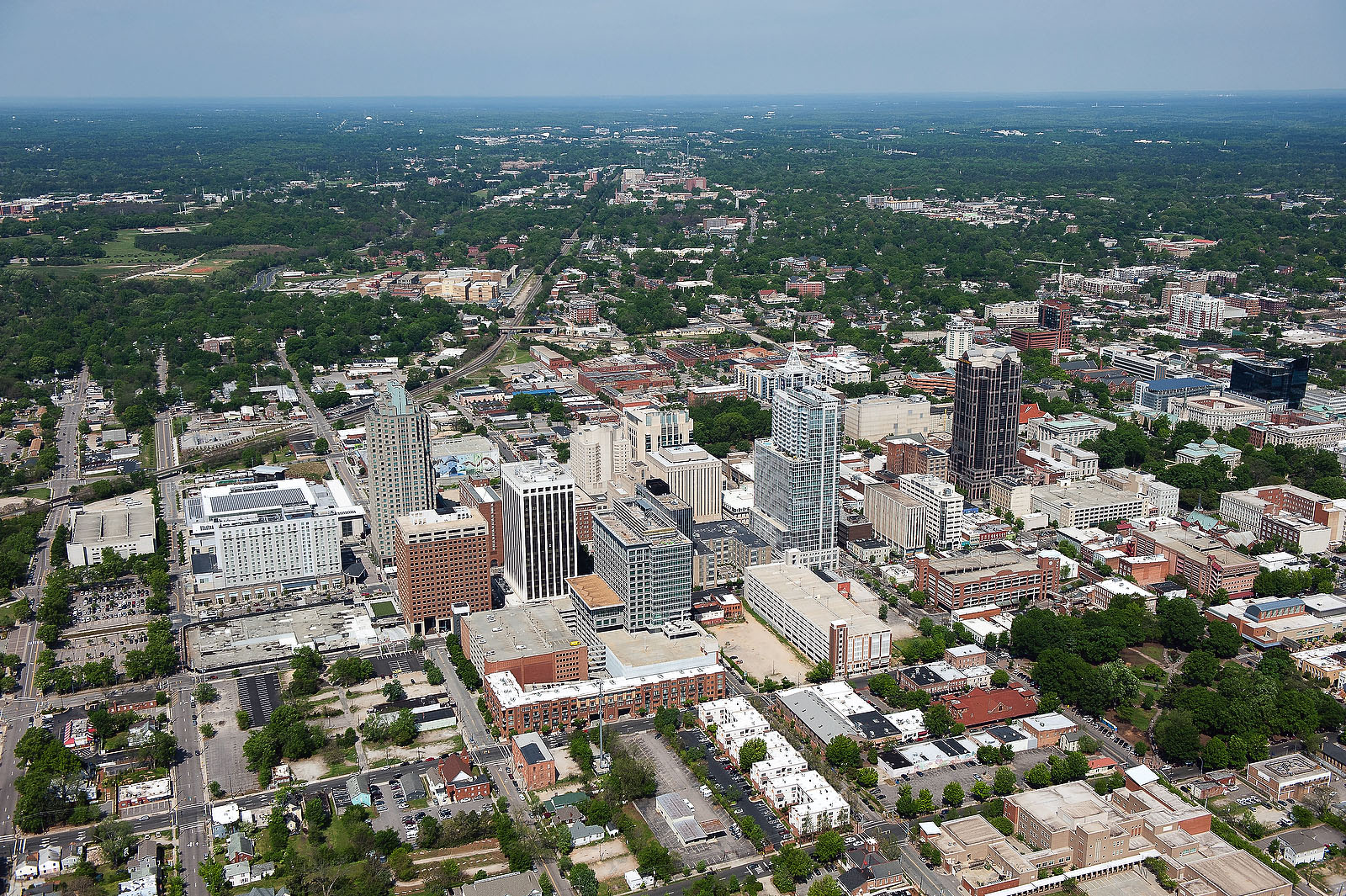 Aerial View of Downtown Raleigh