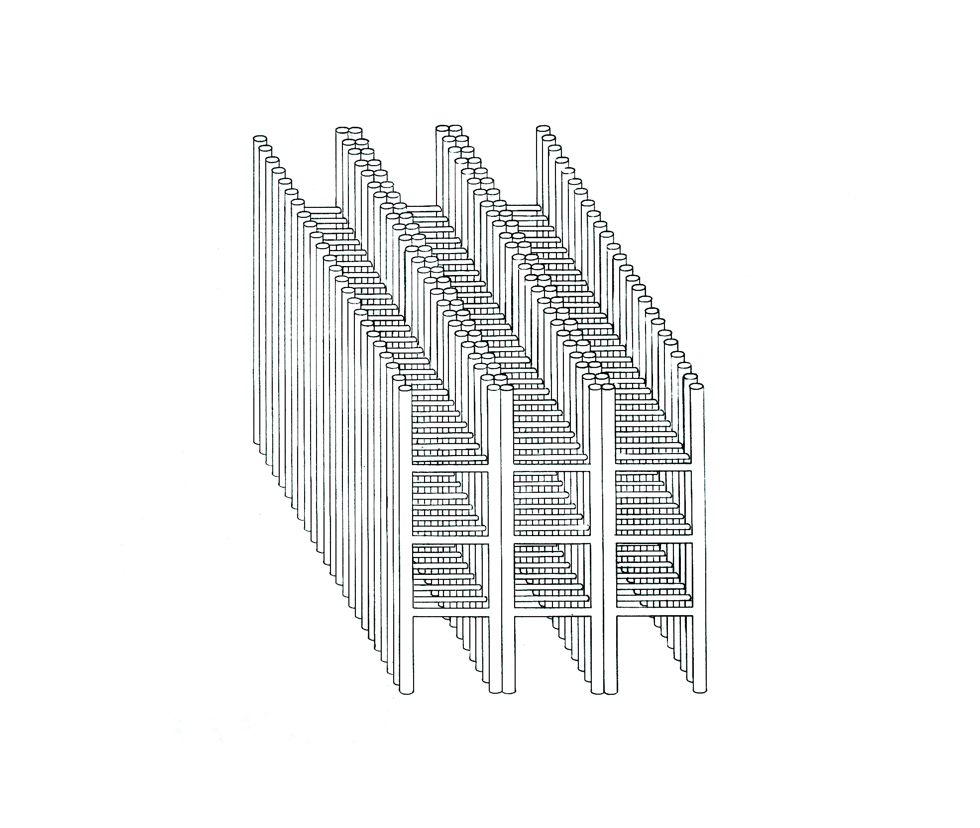 white cube drawing