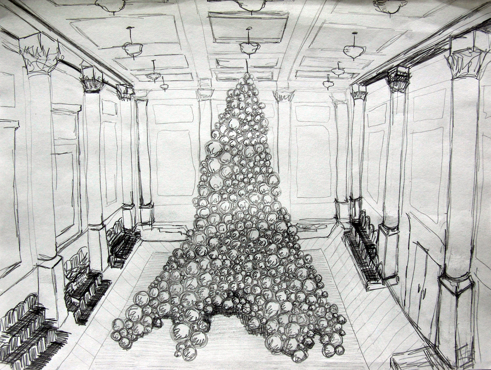 Early Corinthian Hall Concept Sketch