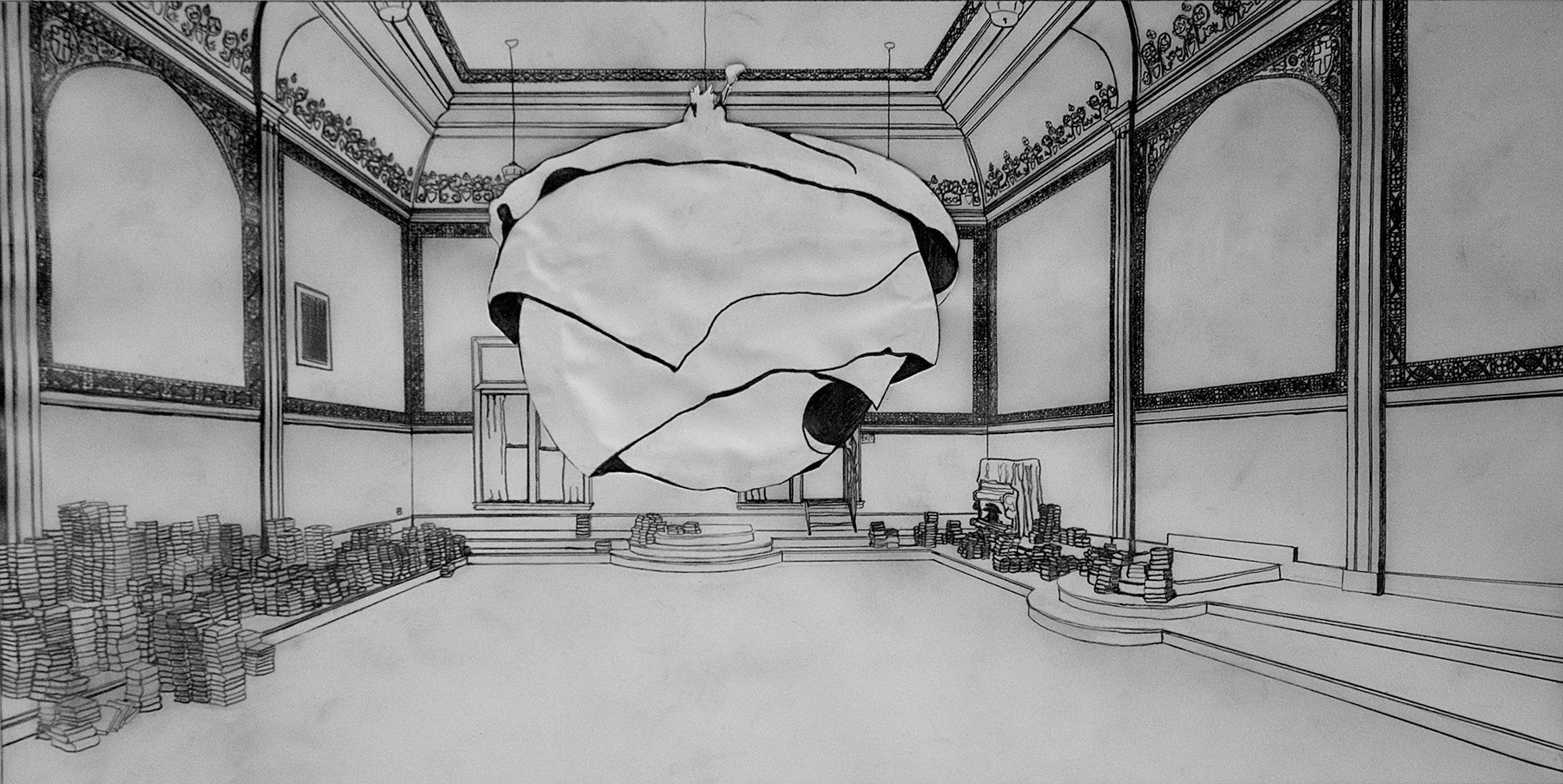 Eastern Star Hall Sketch with Nest