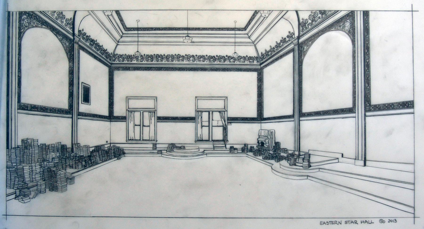 Eastern Star Hall Sketch