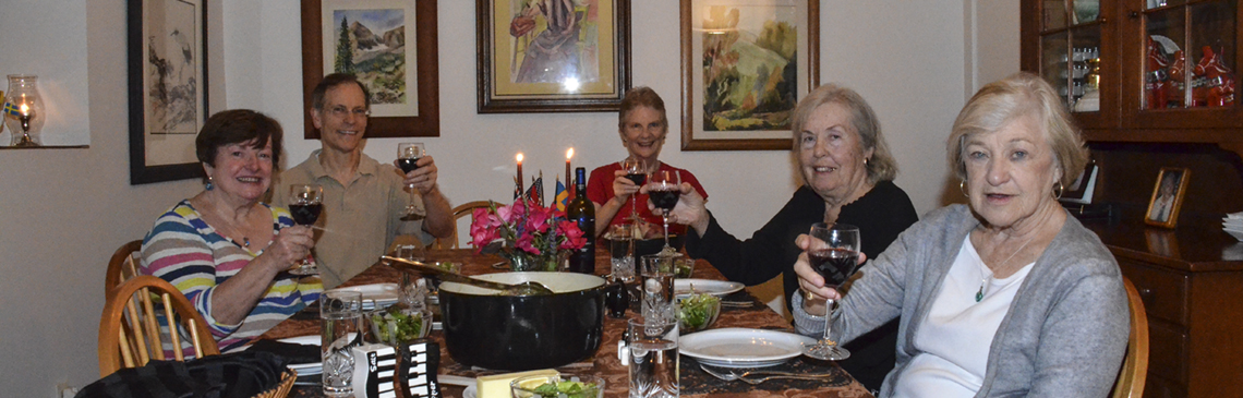 Pot Luck at home of Linda Brooks - Oct 3, 2014