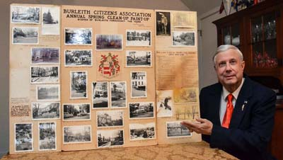 Edgar Russell III contributed a collage of photos collected in the late 1960s by his grandfather and Burleith historian, Edgar Farr Russell, 2015.