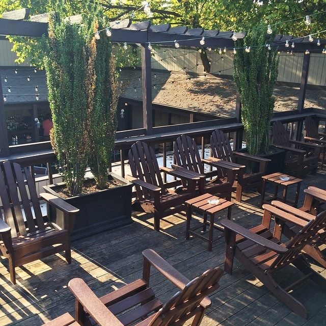 now that warm weather is here, pull up a chair and enjoy some grub and a drink on the sun deck.