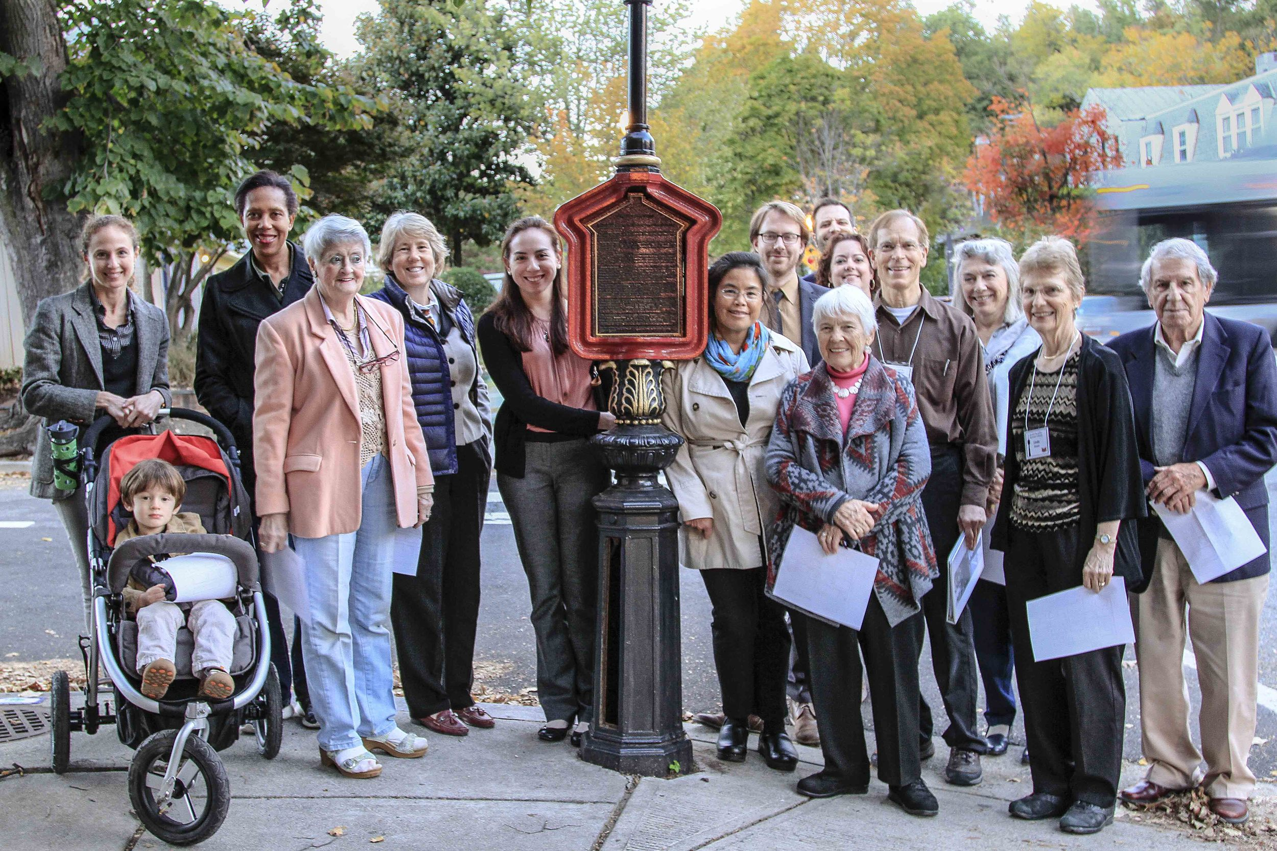 A tour of the restored call boxes preceded the party, which was scheduled for 6:30–8:30 pm and was still going strong after 9 pm. photo by alex frederick.