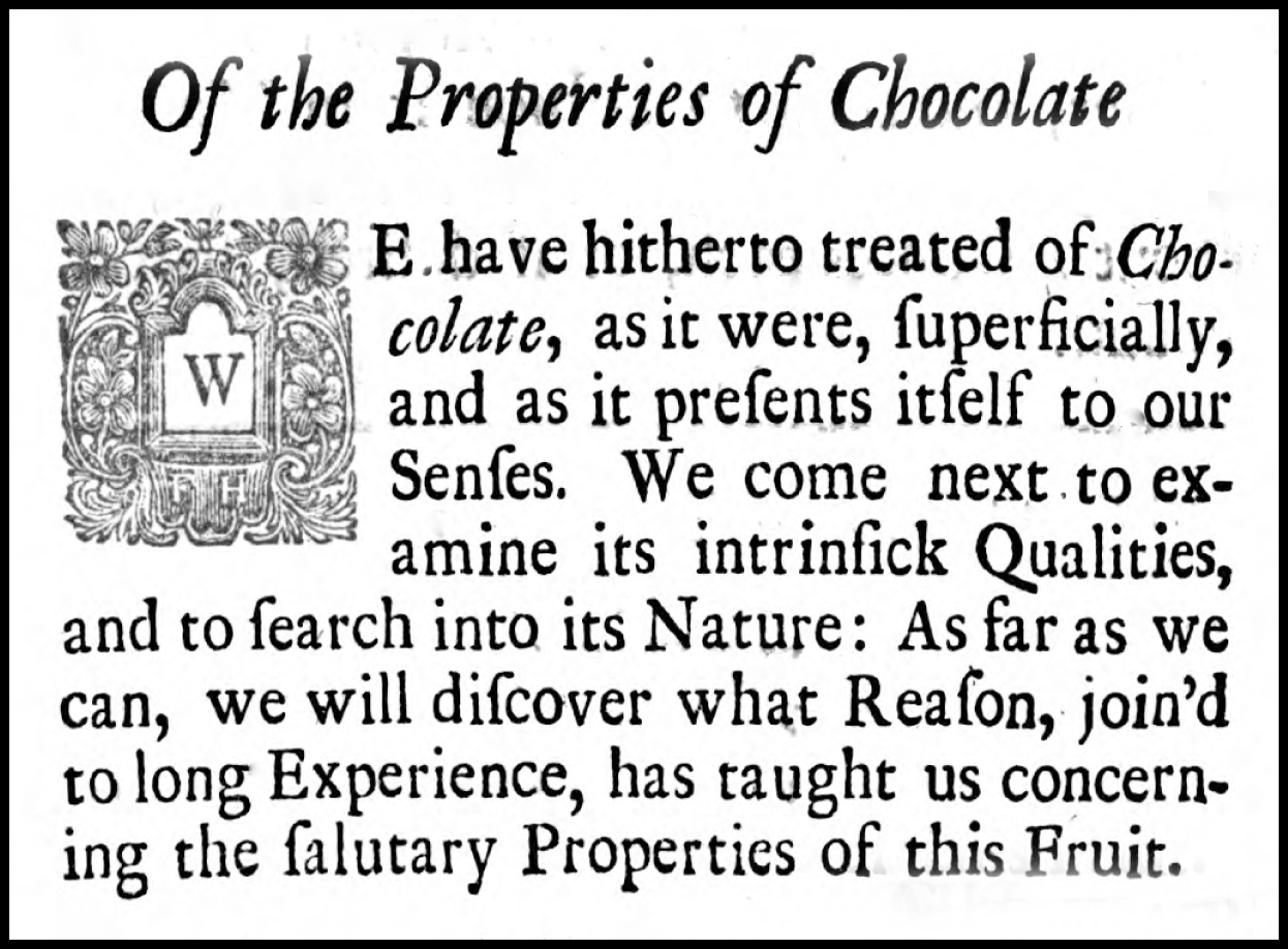 From  The domestick coffee-man, shewing the true way of preparing and making of chocolate, coffee and tea  by Humphrey Broadbent, London, 1722. courtesy of HathiTrust.